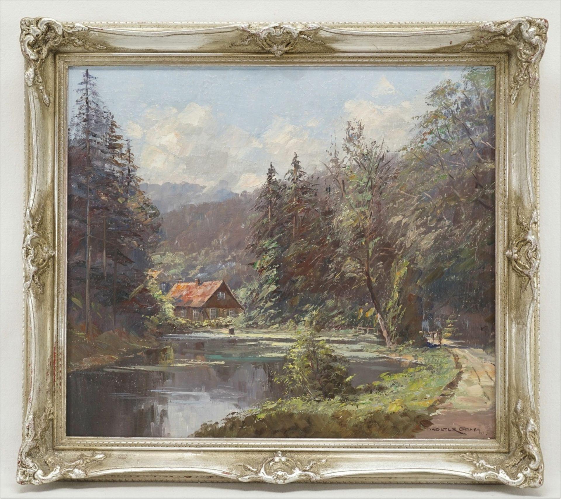 """Walter Gemm, """"Christianental mit Forsthaus bei Wernigerode im Harz"""""""