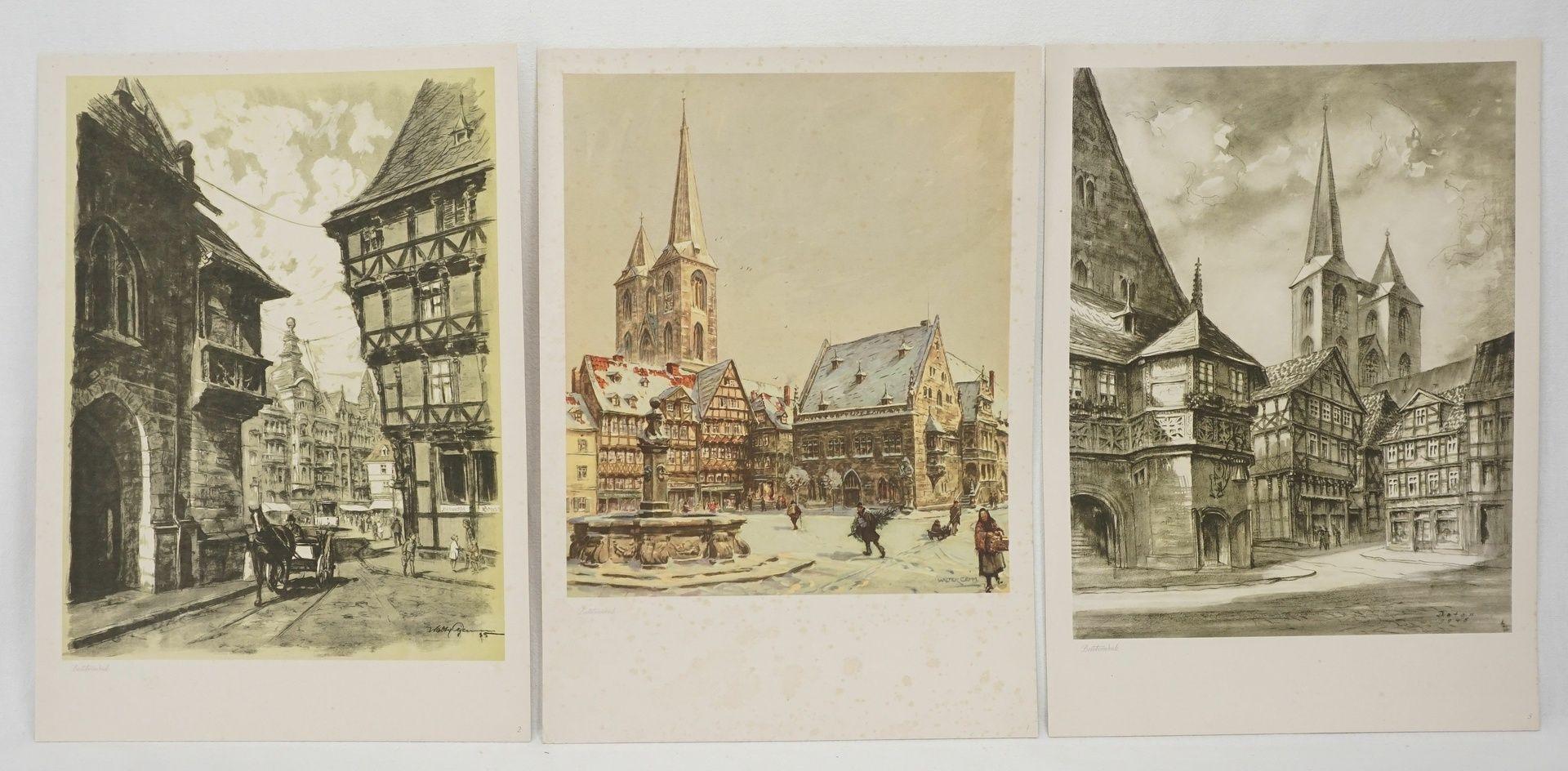 Kunstdruckmappe und Postkarten, Halberstadt am Harz - Bild 3 aus 7