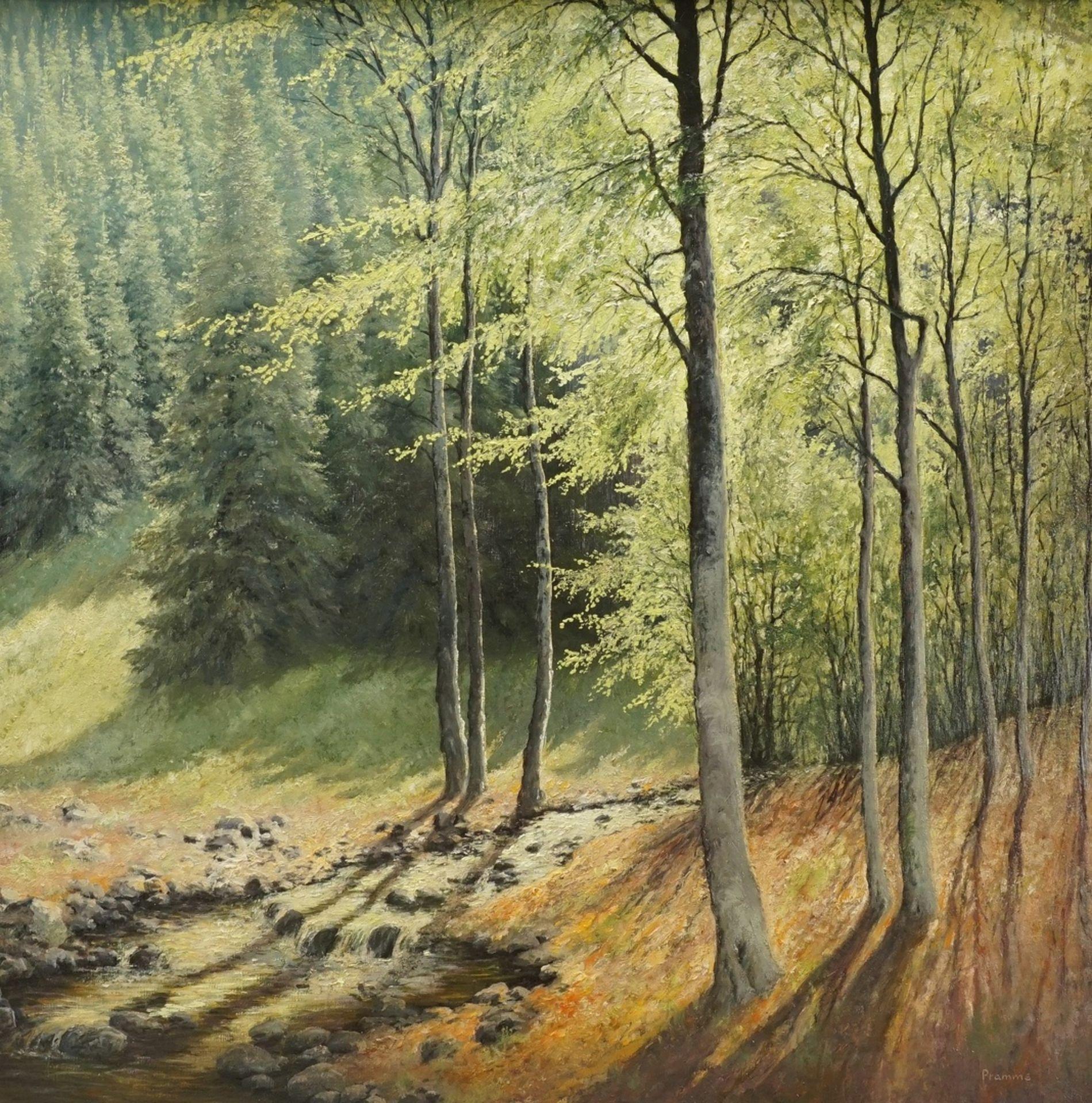 """Wilhelm Pramme, """"Im Klostergrund"""" (bei Blankenburg / Harz)"""