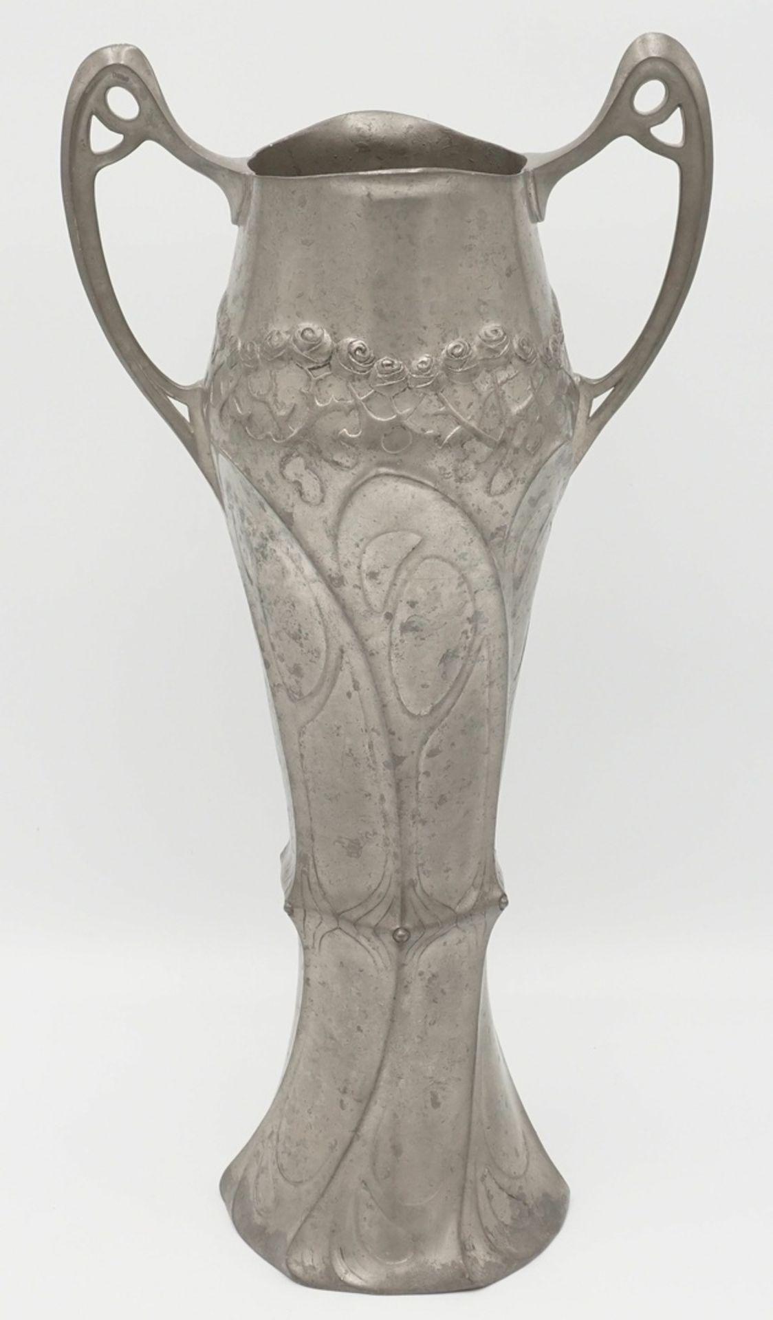 Juventa Prima Metal Doppelhenkelvase, vermutlich 1902-1908 - Bild 2 aus 3