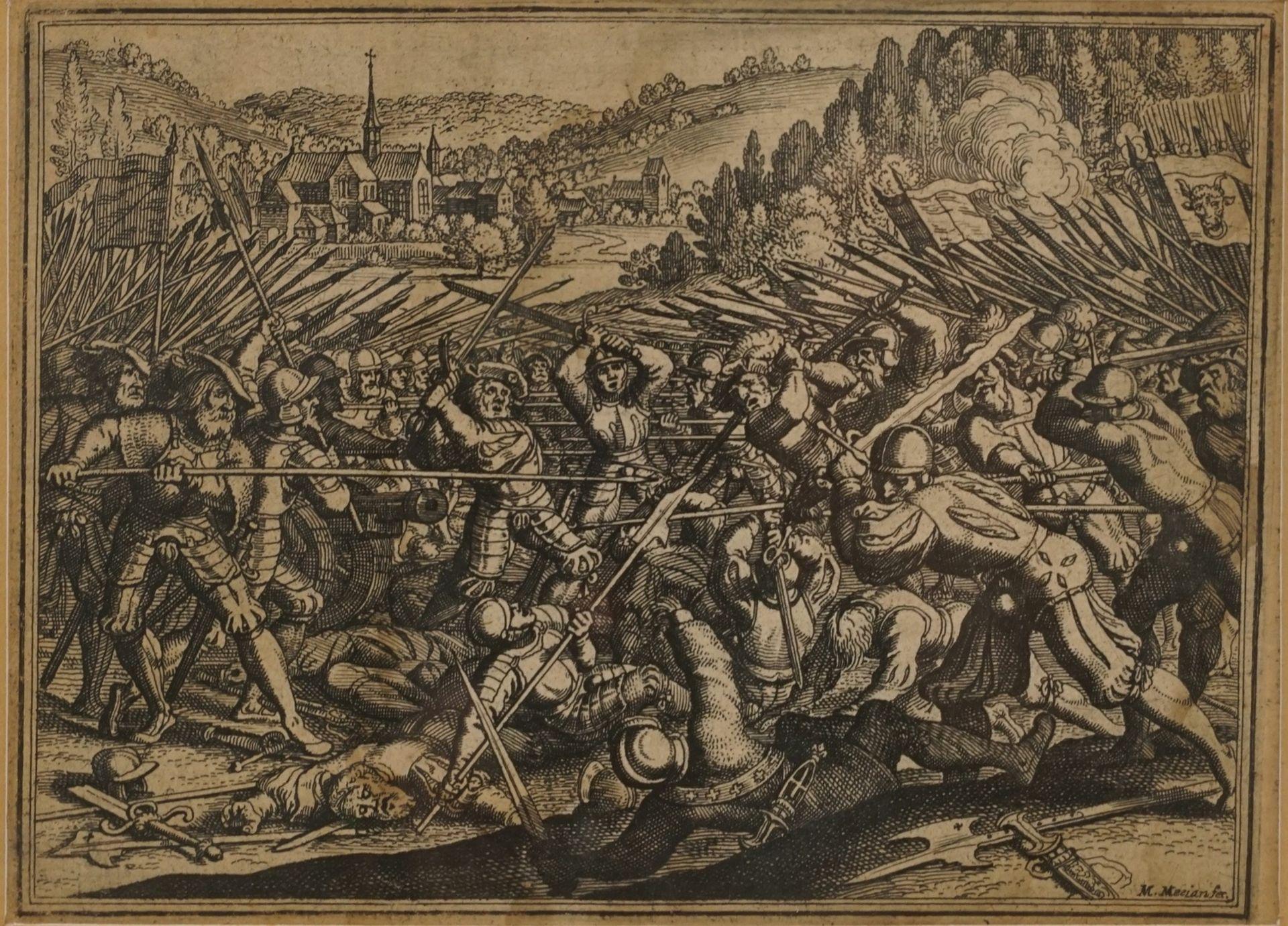 Matthäus Merian, Fünf Kupferstiche mit Schlachtenszenen - Bild 6 aus 6
