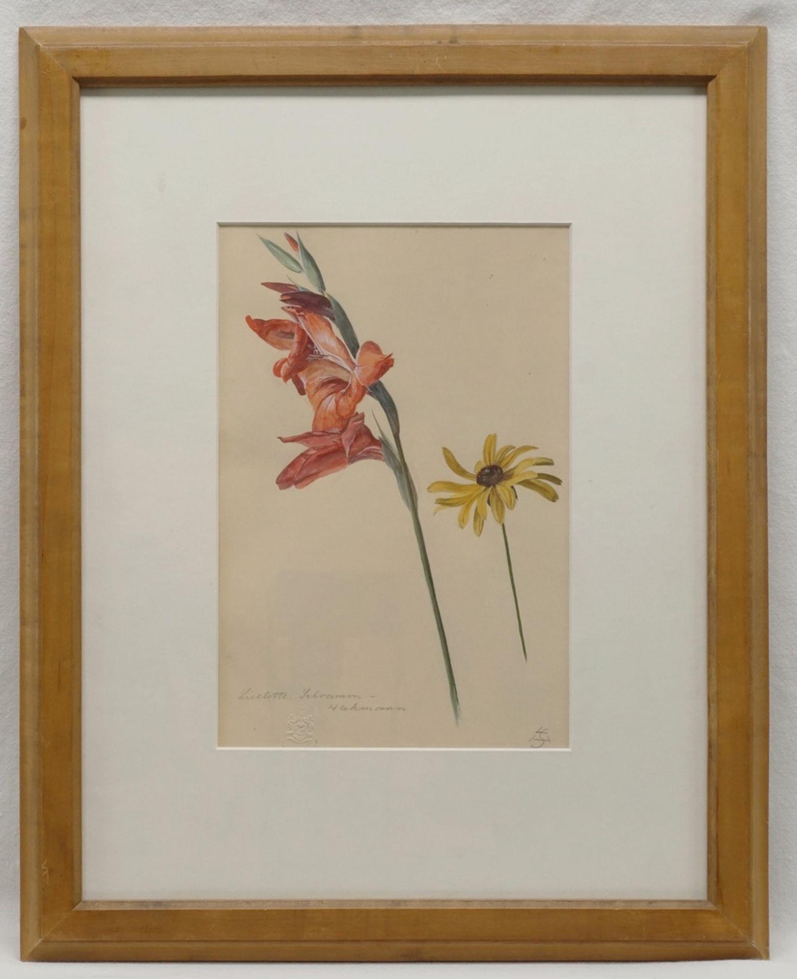 """Liselotte Schramm Heckmann, """"Gladiole und Sonnenhut"""" - Bild 2 aus 3"""