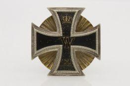 Eisernes Kreuz 1. Klasse 1914 an großer Schraubscheibe