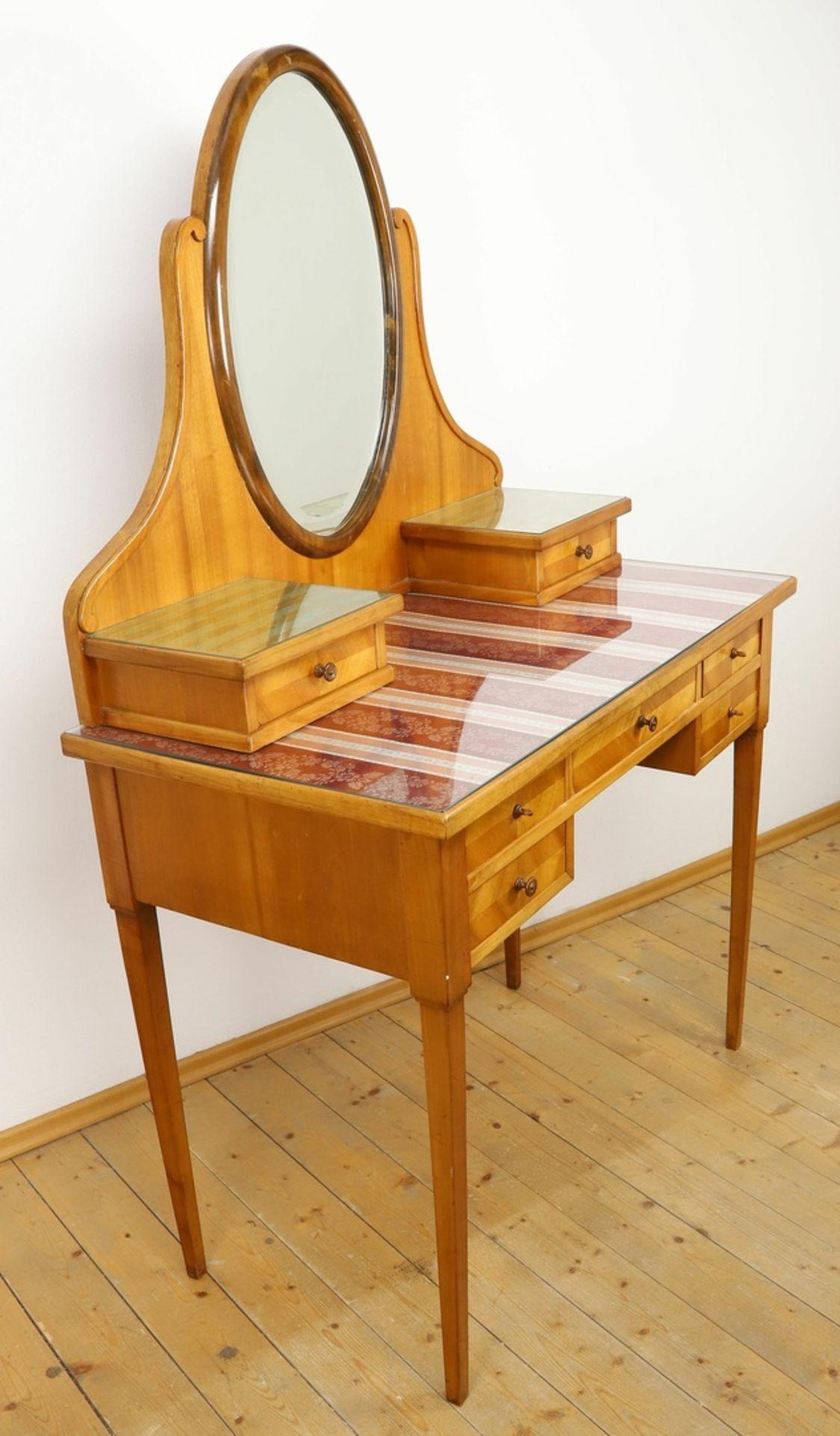Frisierkommode mit Aufsatzspiegel und Stuhl - Bild 2 aus 8