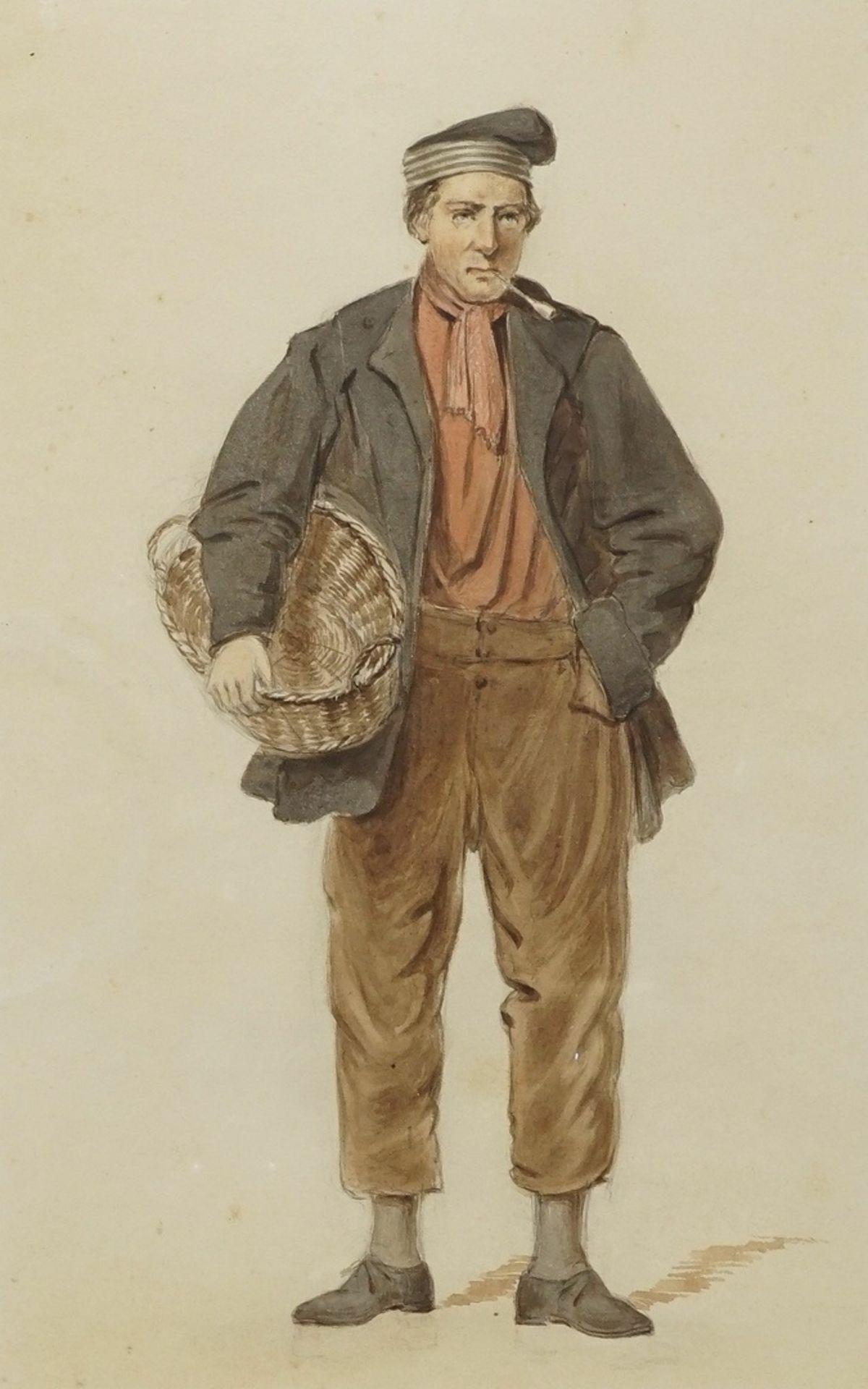 Gerard Bosch, Kostümstudien zweier niederländischer Herren - Bild 3 aus 4