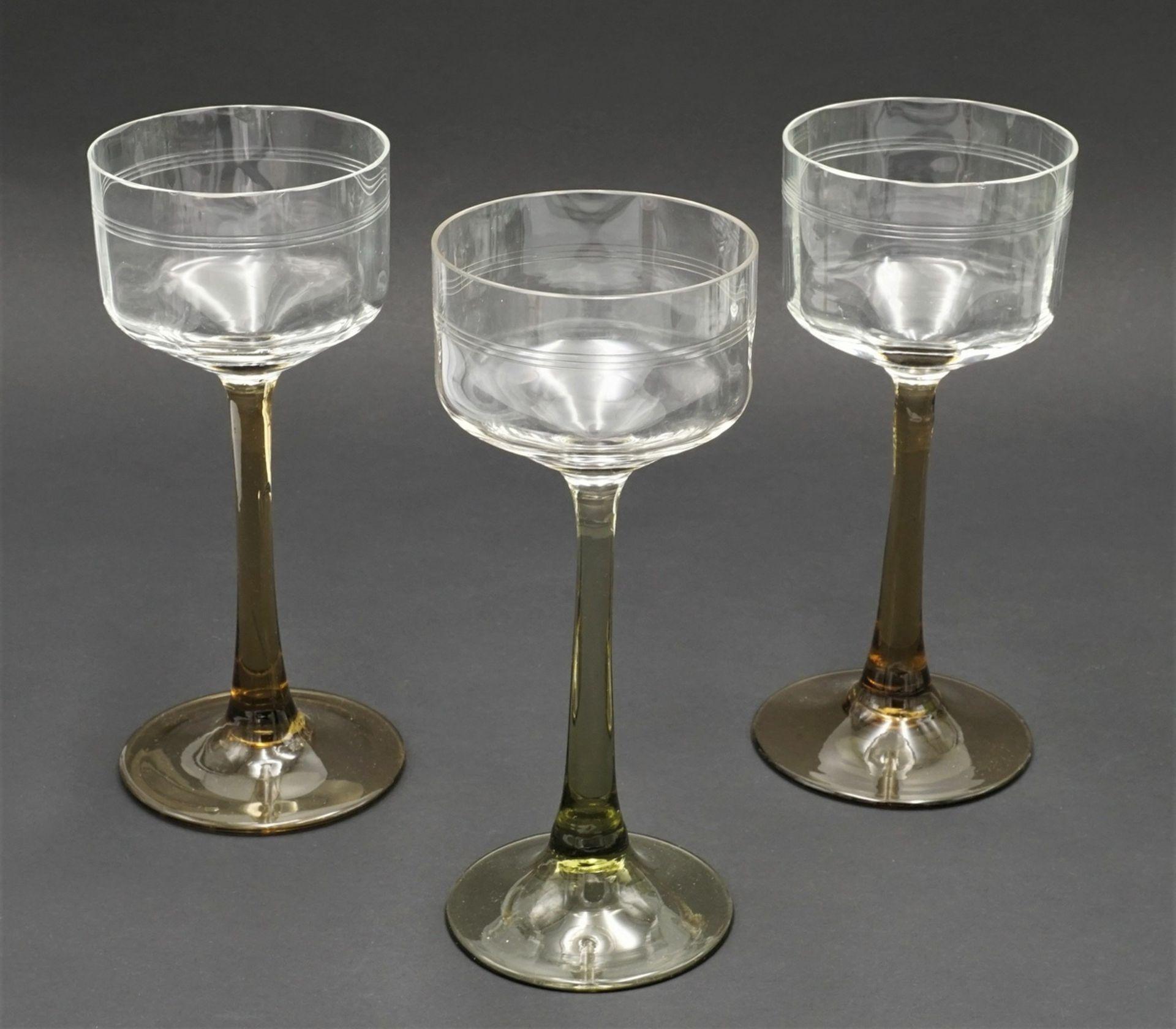17 Weingläser, um 1900-1930 - Bild 4 aus 5