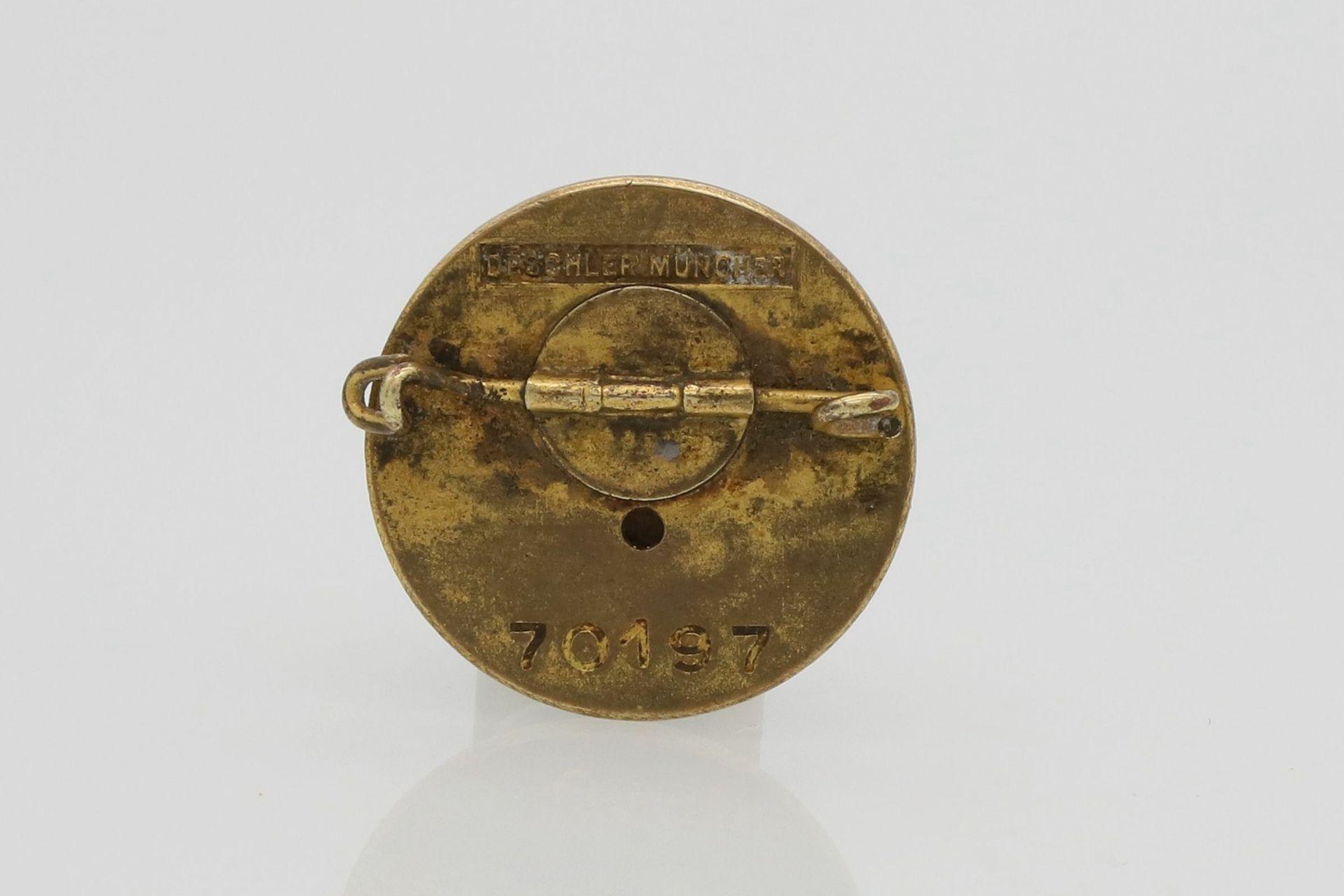 NSDAP goldenes Parteiabzeichen, kleine Ausführung - Bild 2 aus 2