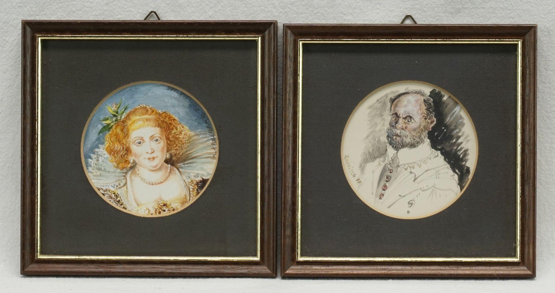 Rudolf Reinisch, Sechs Miniaturbilder - Bild 2 aus 4