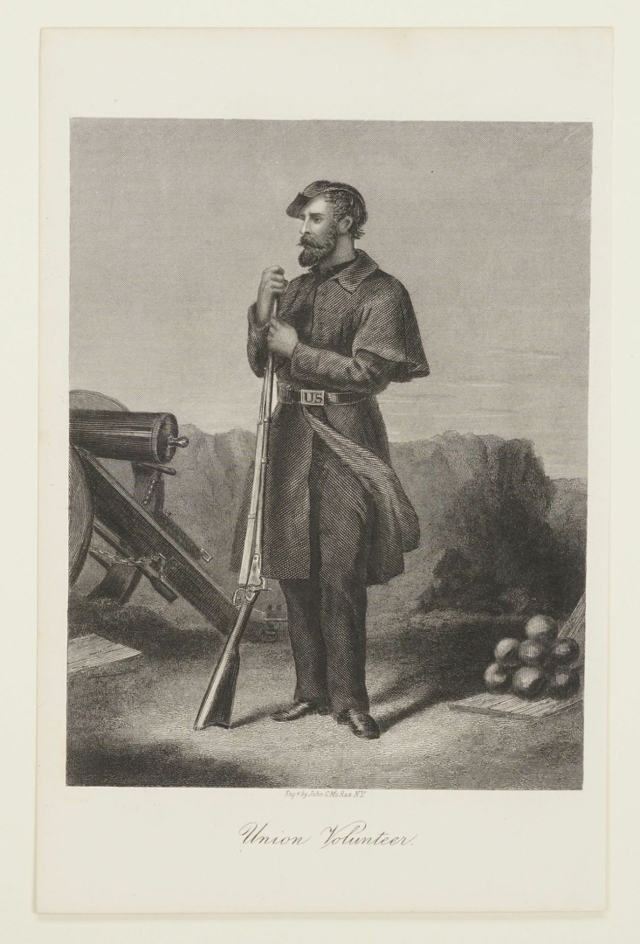 John C. McRae, Drei Darstellungen nordamerikanischer Soldaten - Bild 4 aus 4