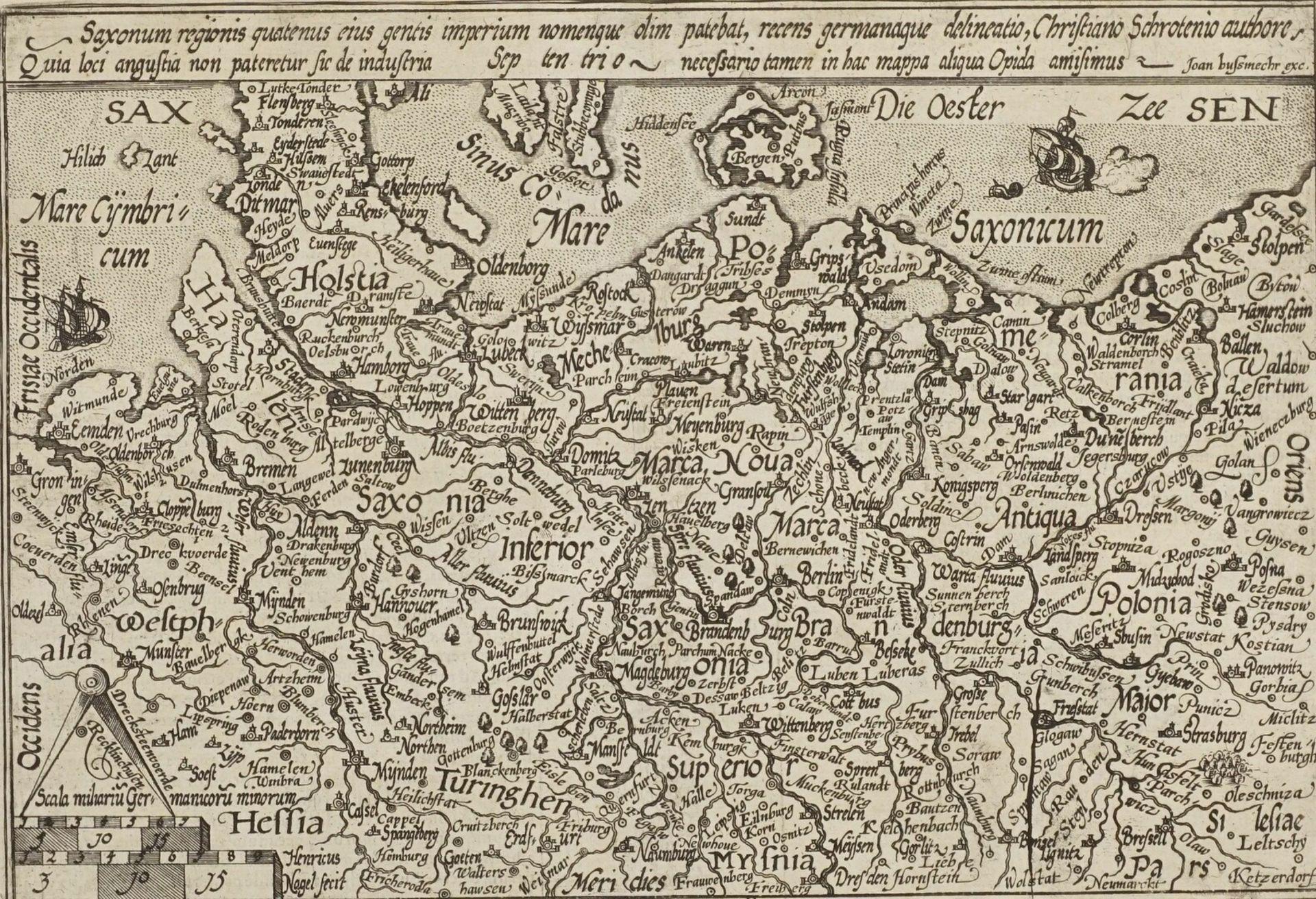 """Mat(t)hias Quad, """"Saxonum regionis quatenus eius gentis imperium nomenque olim patebat, recens ..."""