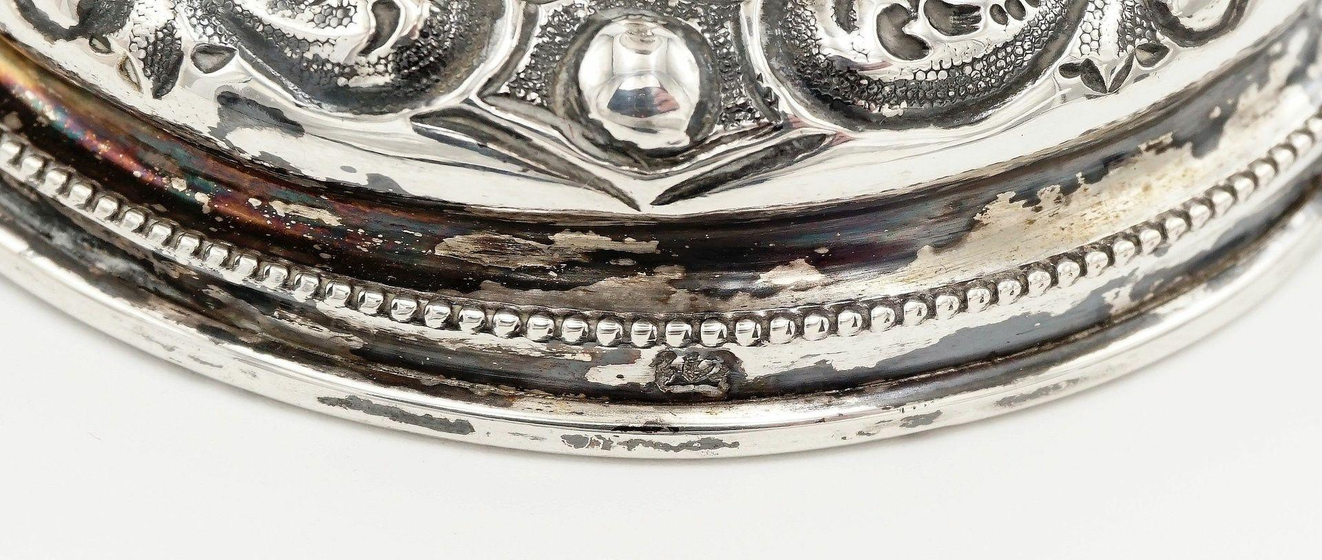 Reich verzierter Silberpokal - Bild 4 aus 4