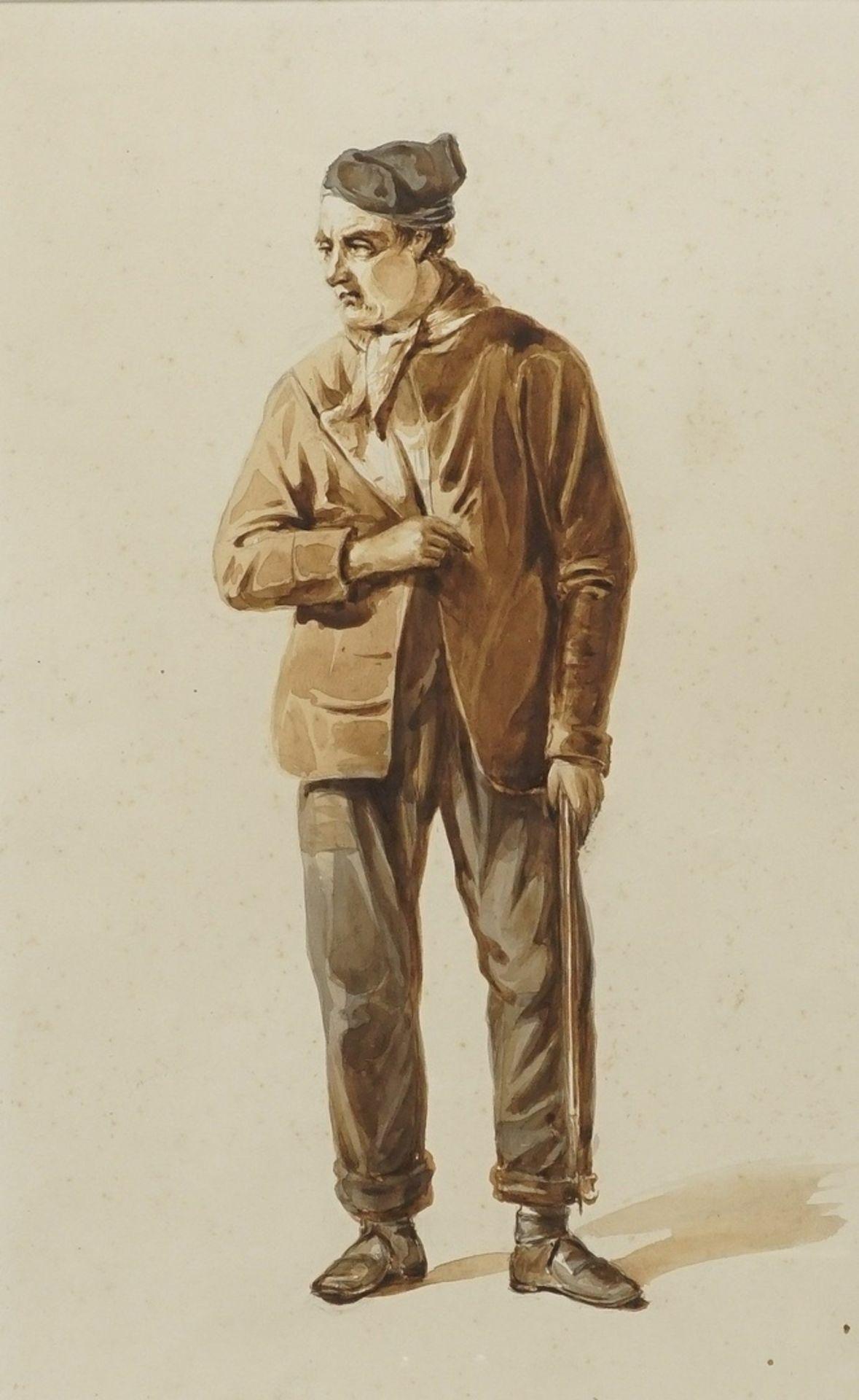 Gerard Bosch, Kostümstudien zweier niederländischer Herren - Bild 2 aus 4