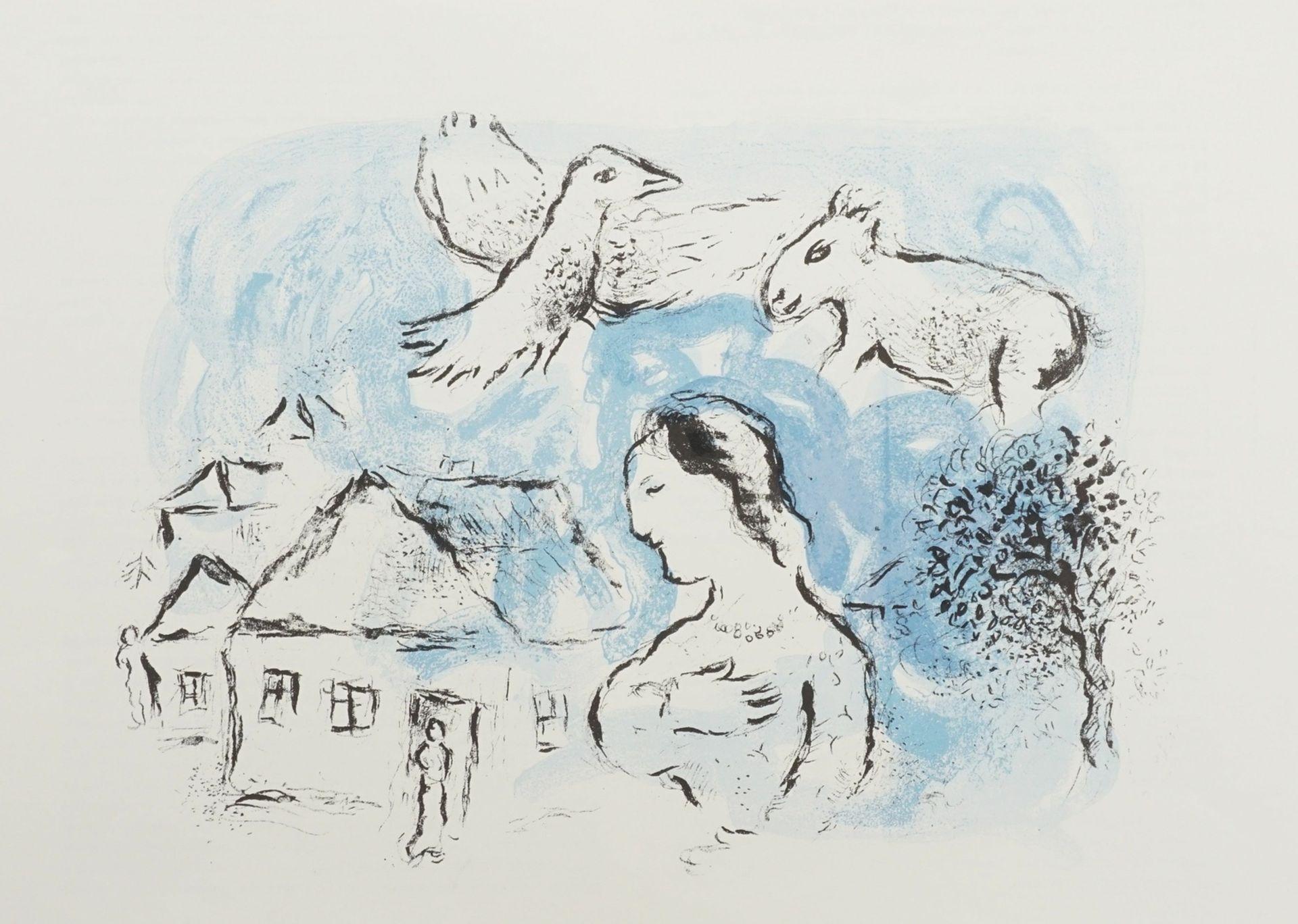 "Marc Chagall, ""Le Village"" (Das Dorf)"