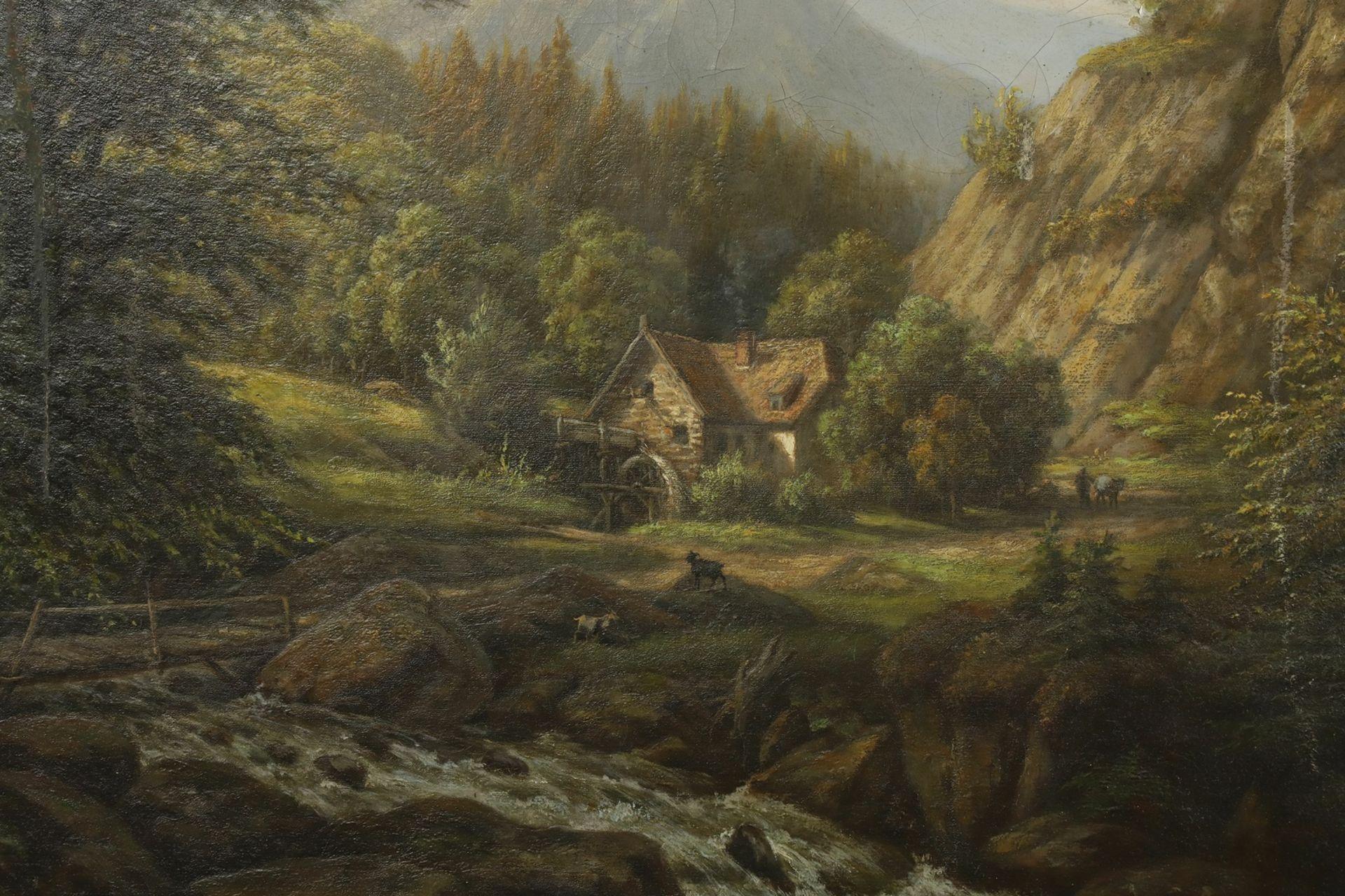 Carl Schulz, Wassermühle im Gebirgstal - Bild 3 aus 6