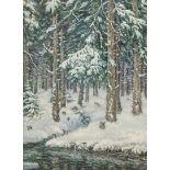 """Rudolf Holzschuh, """"Harz. Festenburg"""" (Winterwald)"""