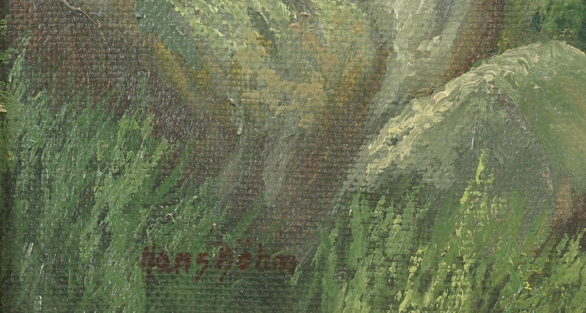 """Hans Böhm, """"Sommermorgen im Harz (Im Thumkuhlental bei Wernigerode)"""" - Bild 4 aus 4"""