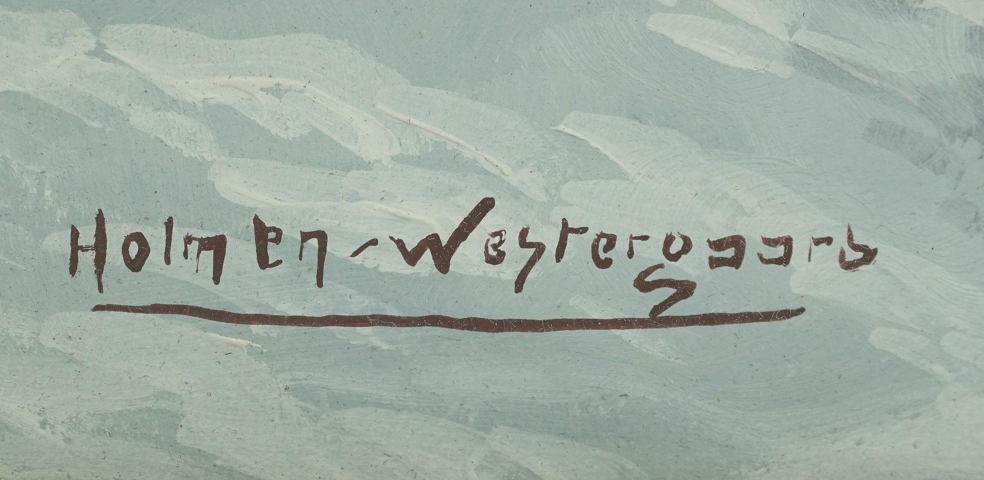 """Holmen-Westergaard, """"Winterlandschaft mit Gehöft"""" - Bild 4 aus 4"""