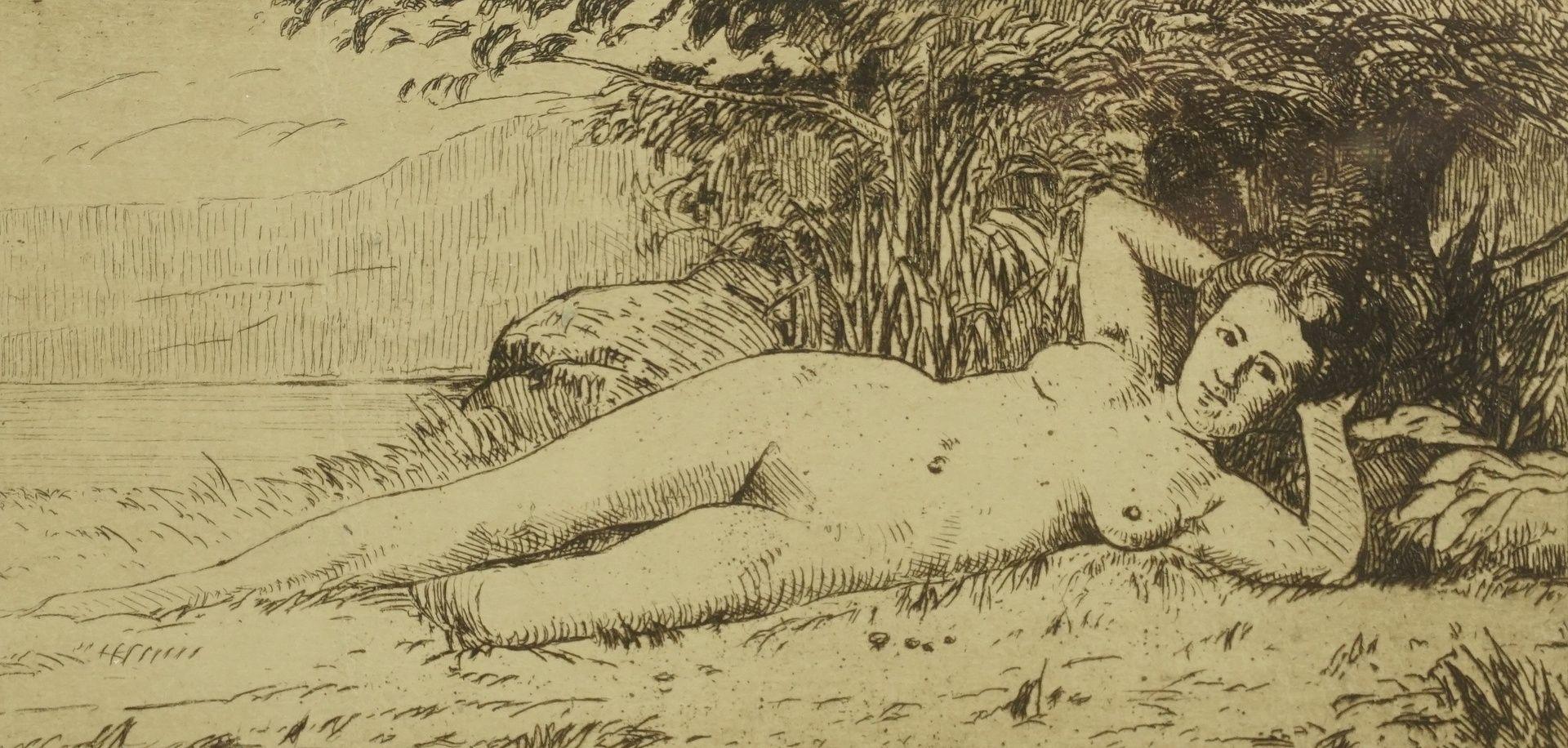 Alfred Schweitzer, Liegender weiblicher Akt