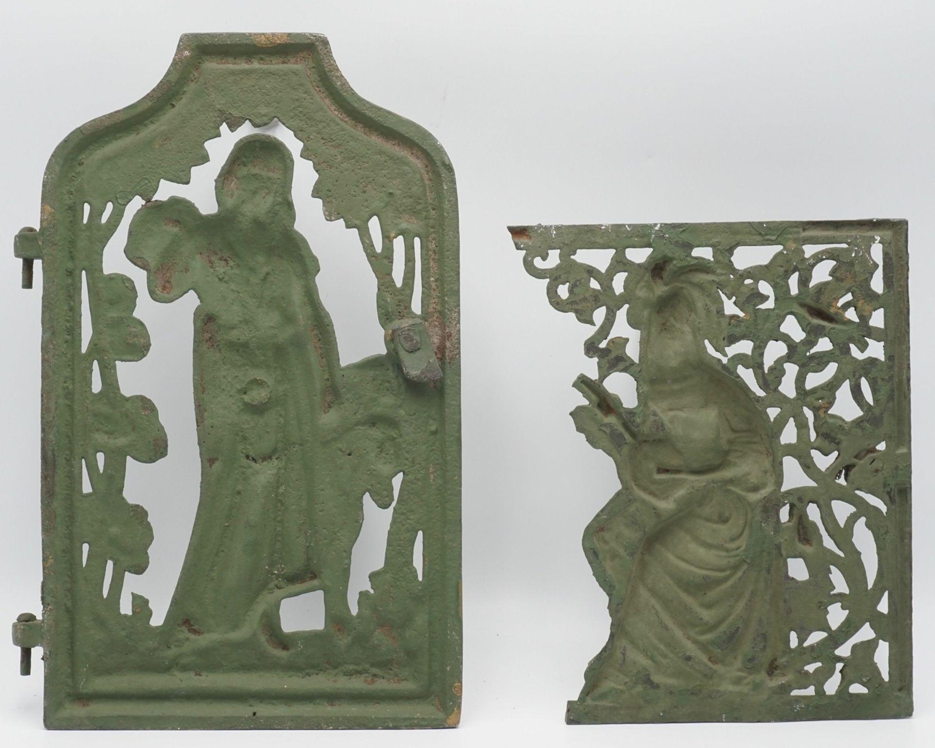 Zwei Jugendstil-Ofentüren, um 1910 - Bild 2 aus 2