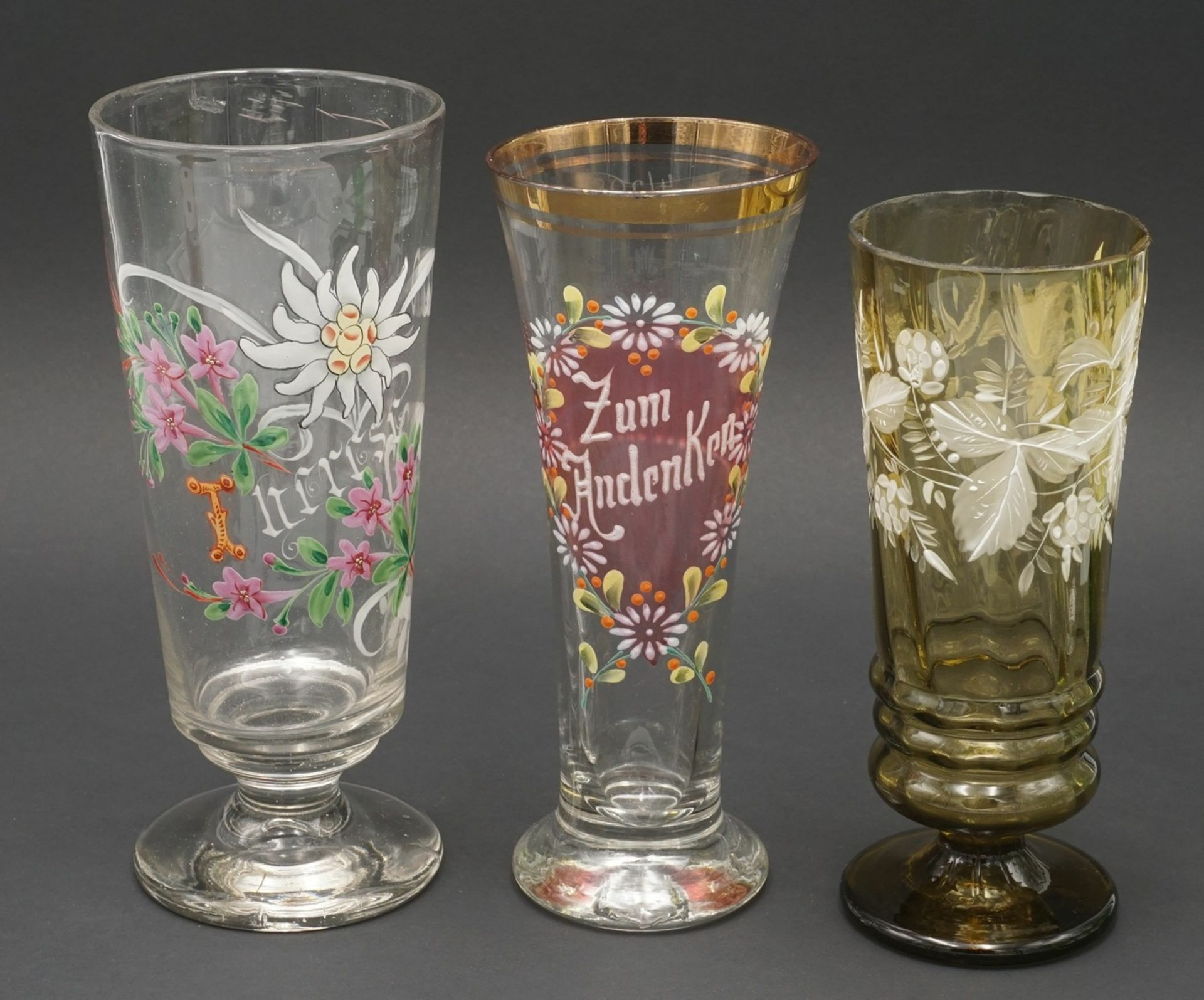 Sechs Gläser, um 1900 - Bild 2 aus 4