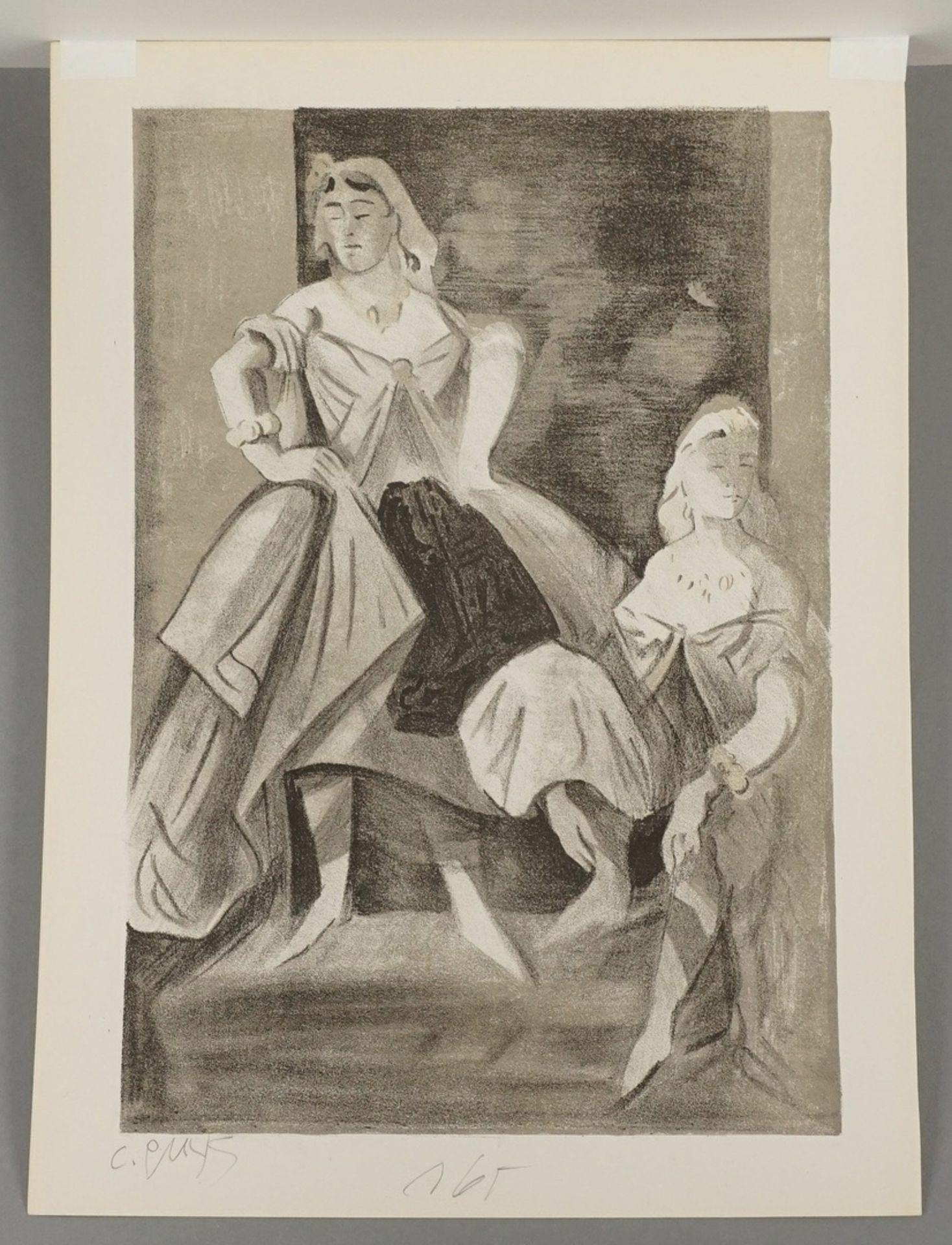 Constantin Guys, Sitzende Dame in türkisblauem Kleid - Bild 4 aus 4