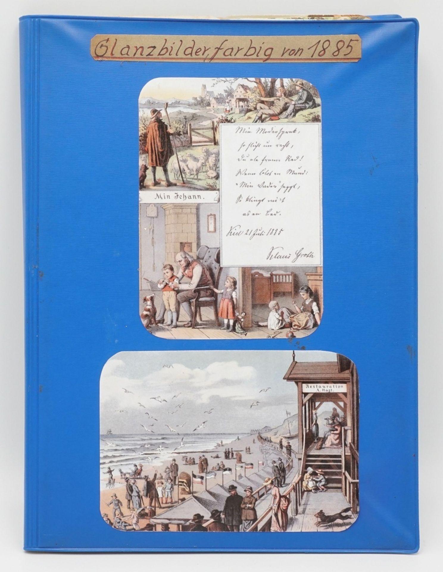 56 farbige Glanzbilder, 1885