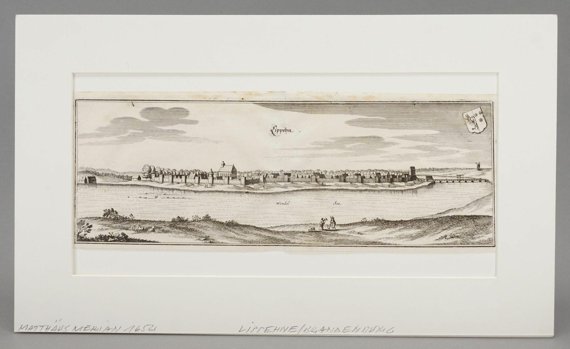 """Matthäus Merian, """"Lippehn"""" (Lipiany, Westpommern) - Bild 2 aus 3"""