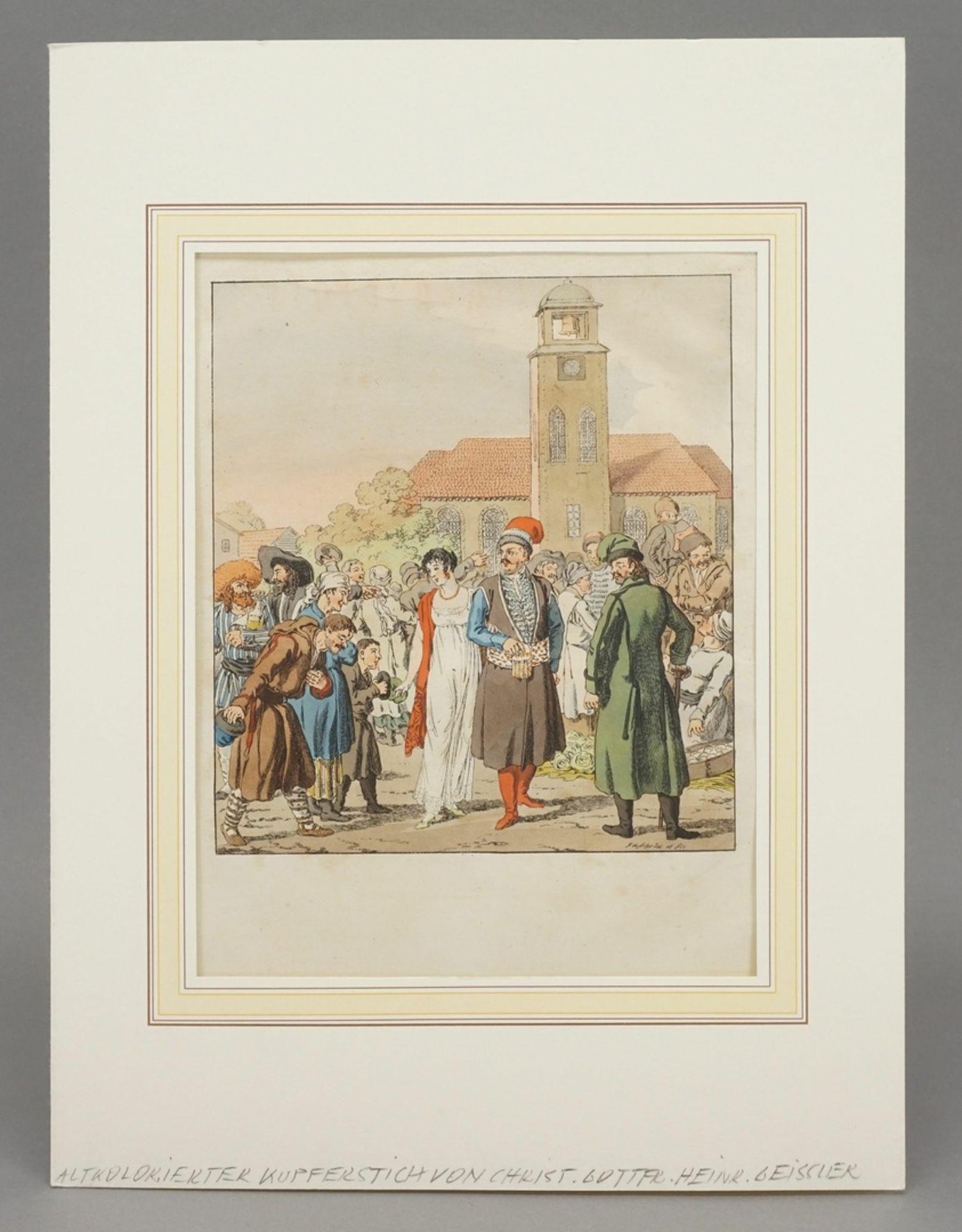 Christian Gottfried Heinrich Geißler, Die Herren auf dem Markt - Bild 2 aus 3