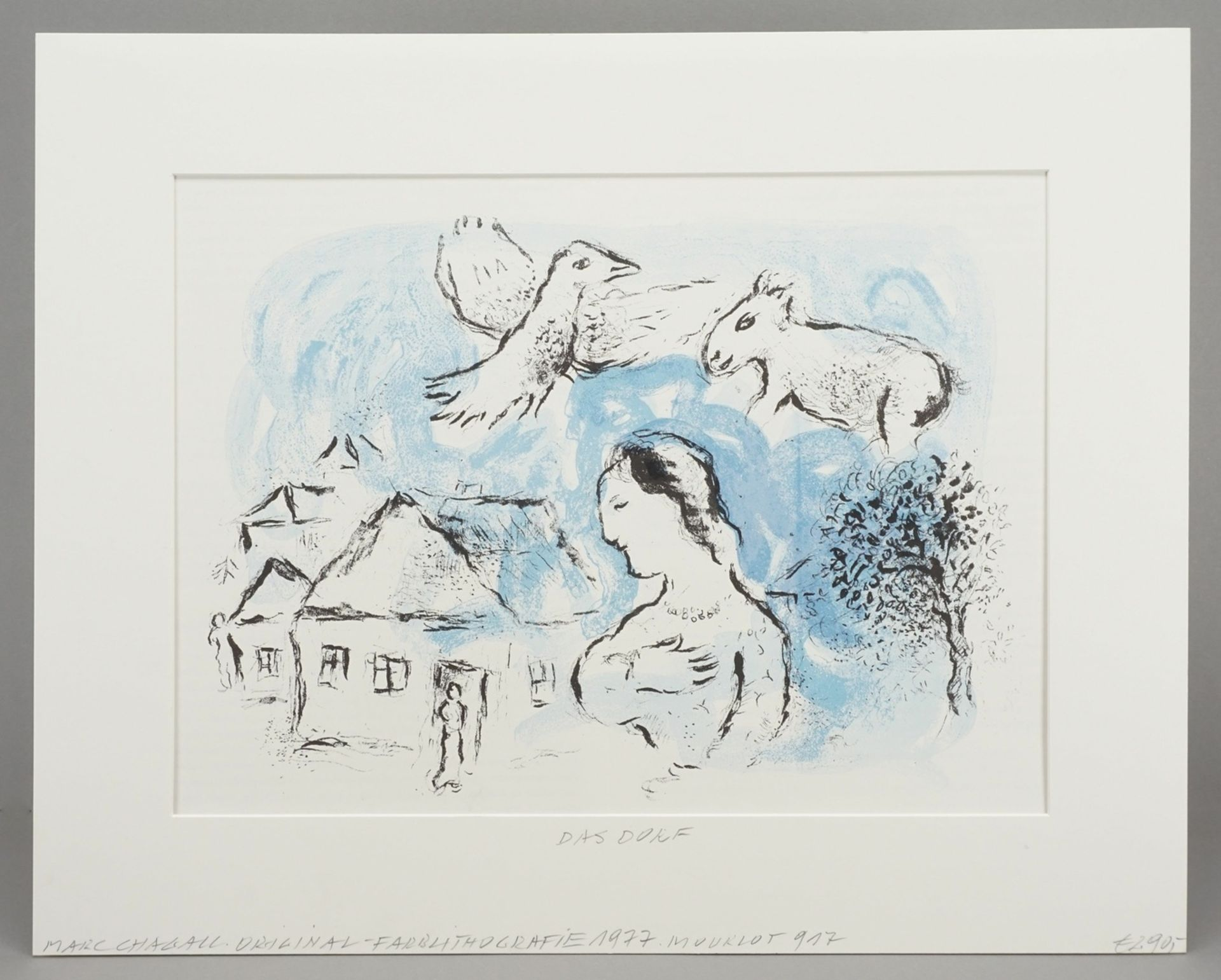 "Marc Chagall, ""Le Village"" (Das Dorf) - Bild 2 aus 4"
