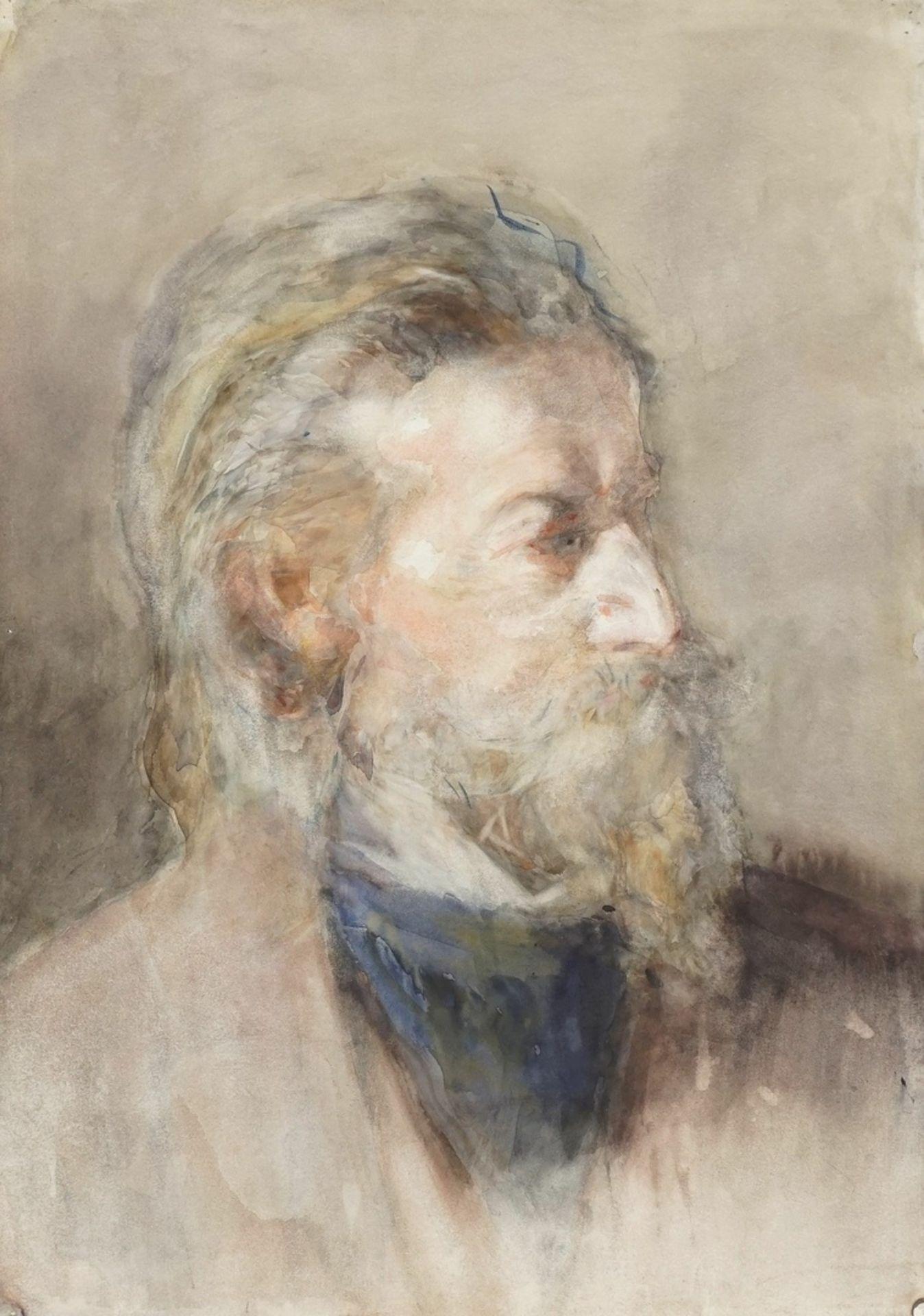 """Unbekannter Portraitist, """"Bildnis eines Herrn mit Spitzbart nach rechts"""""""