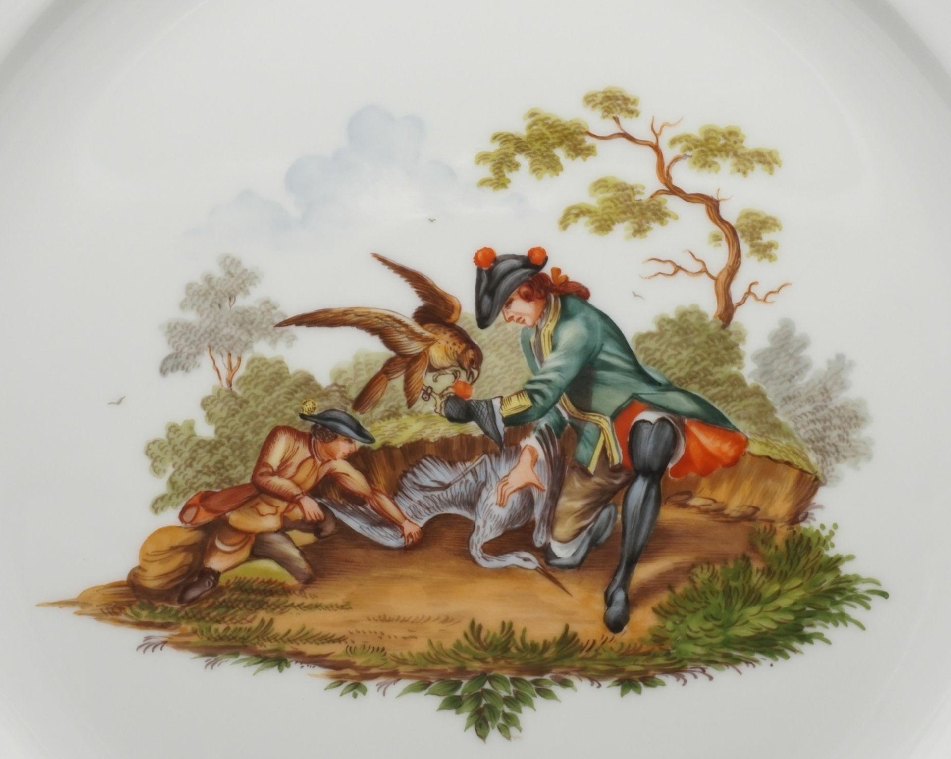 Höchster Porzellanmanufaktur Große Jagdplatte - Bild 2 aus 3