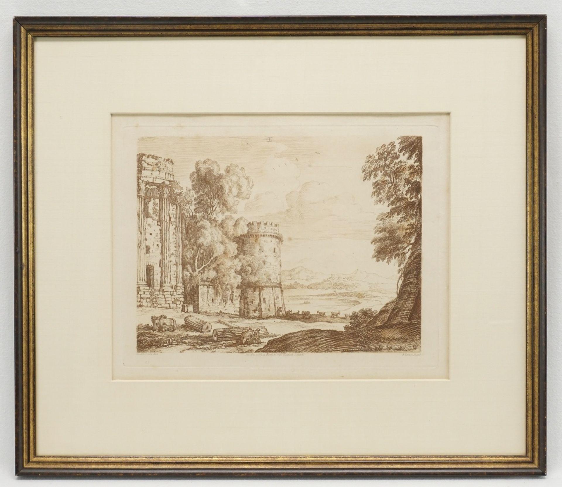 Richard Earlom, Ruinenlandschaft nach Claude Lorrain - Bild 2 aus 2