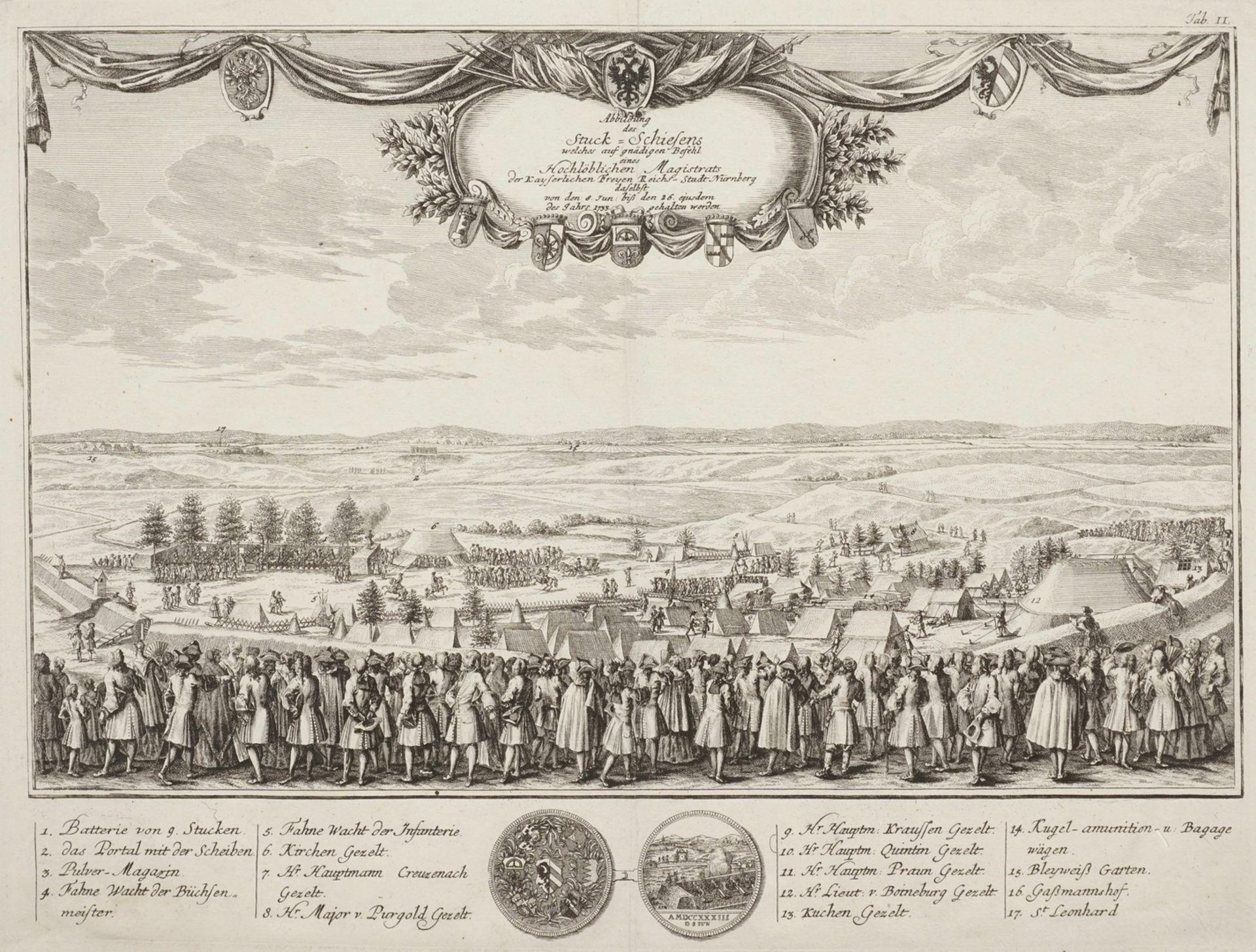 """Johann Christoph Weigel, """"Abbildung des Stuck-Schiesens welches auf gnädigen Befehl eines ..."""