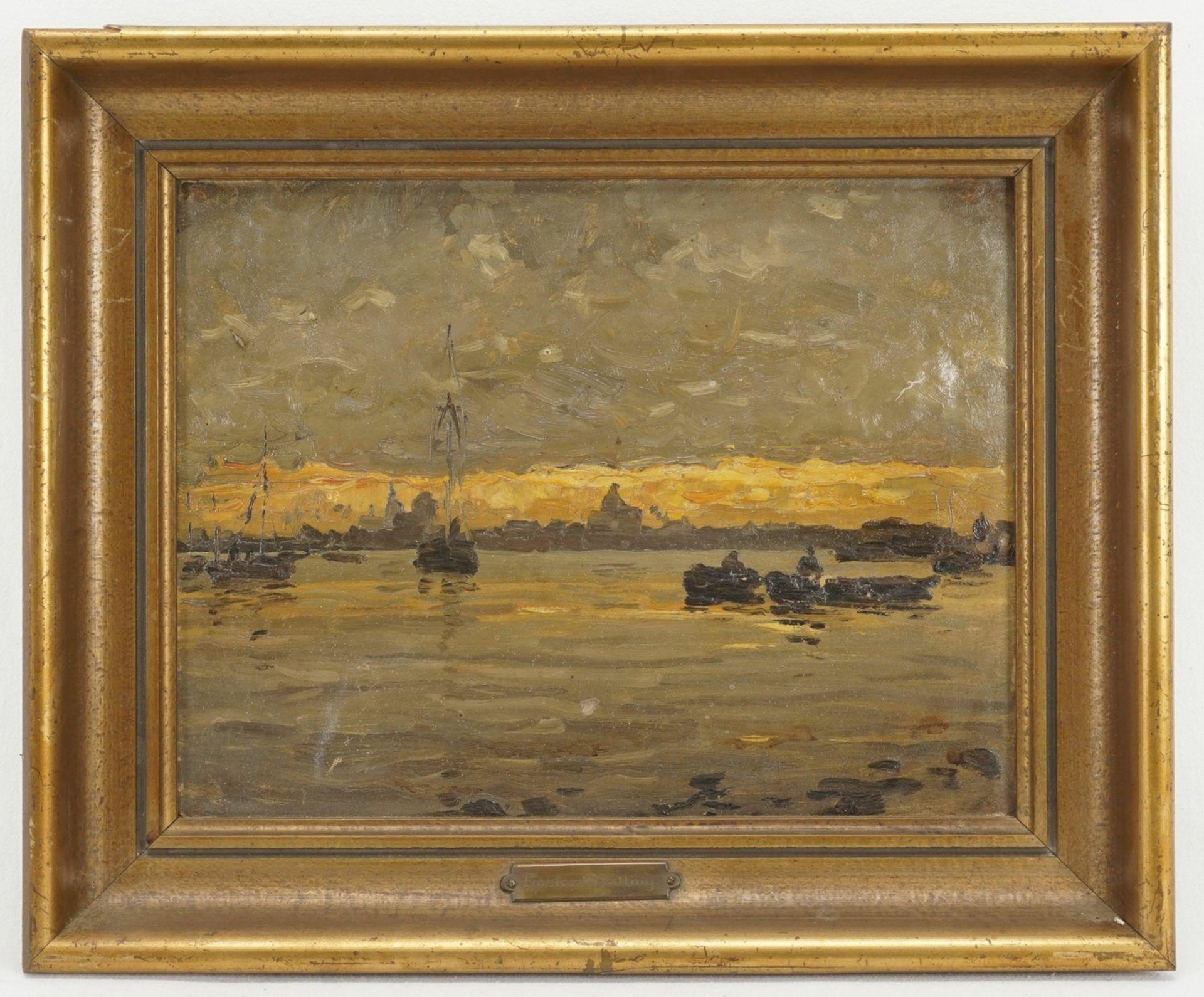 """Gustav Wendling, """"Blick von See aus auf Stralsund"""" - Bild 2 aus 4"""