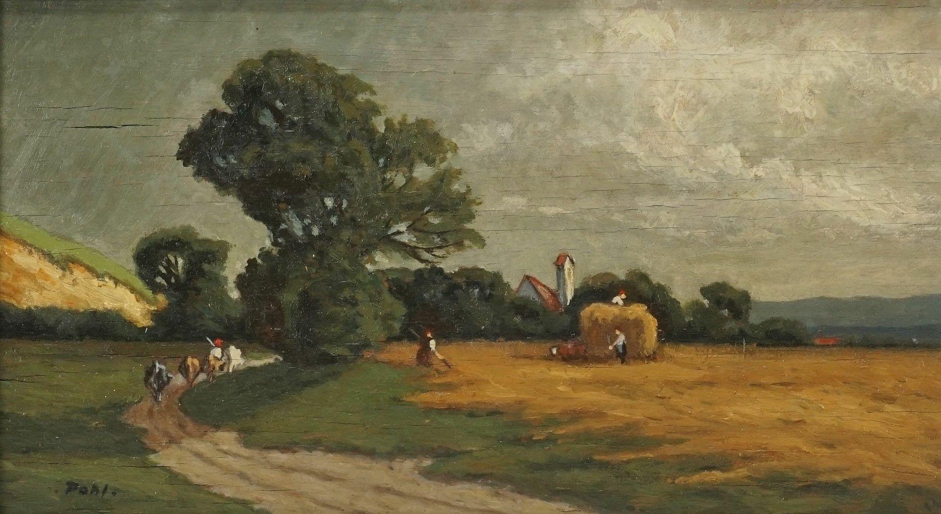 Pohl, Bei der Getreideernte - Bild 2 aus 4