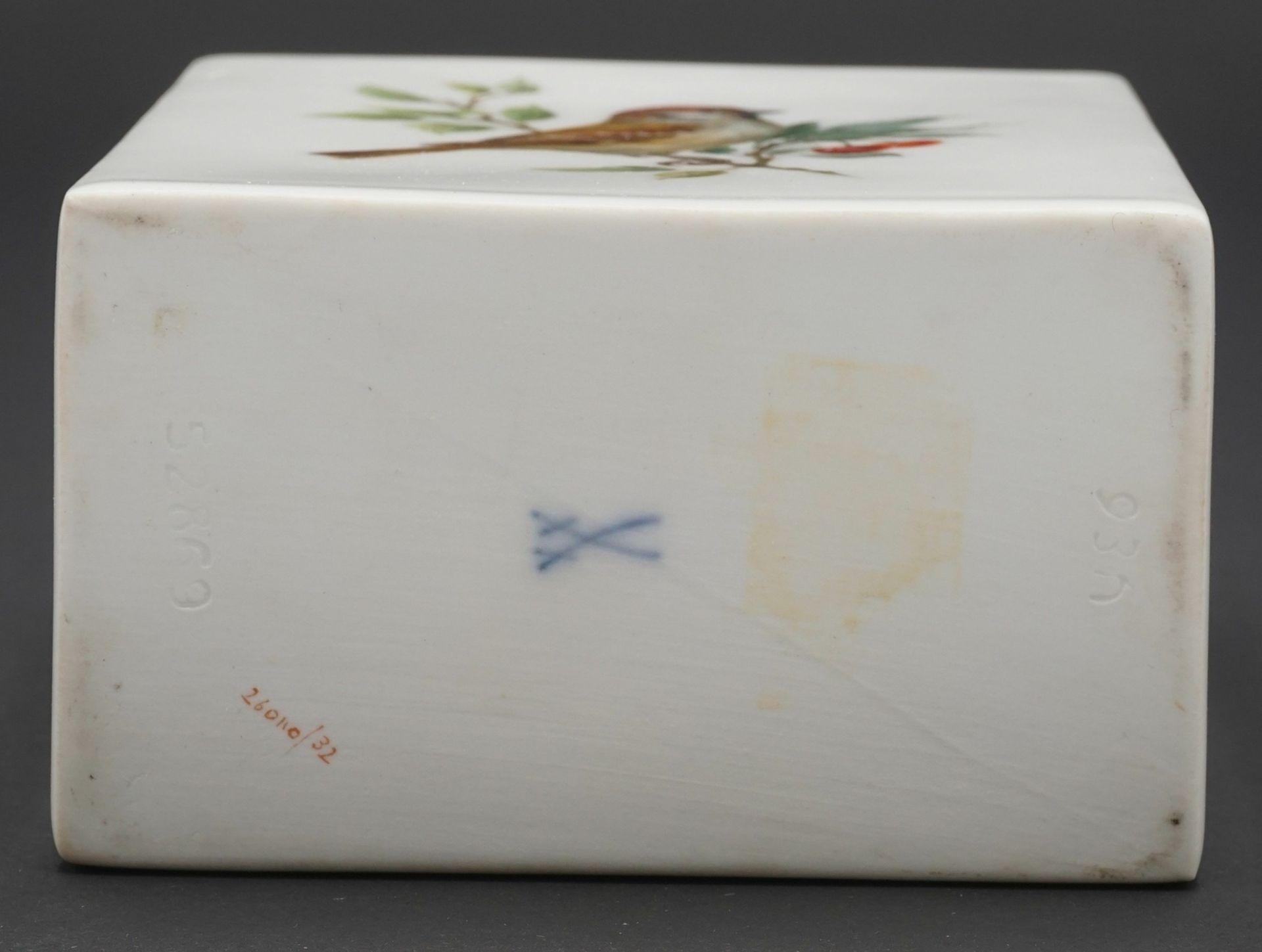 Meissen Teedose mit Vogelmalerei - Bild 4 aus 4