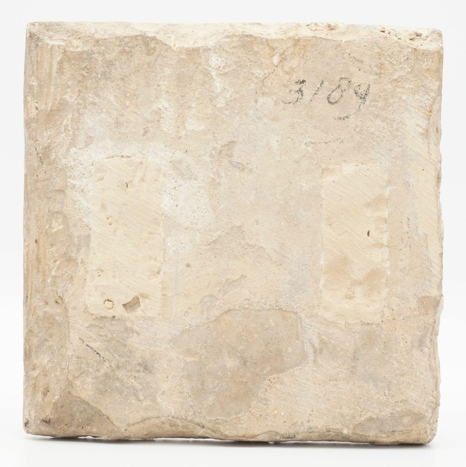 Polychrome Fliese, wohl Persien, 18. Jh. - Bild 2 aus 2