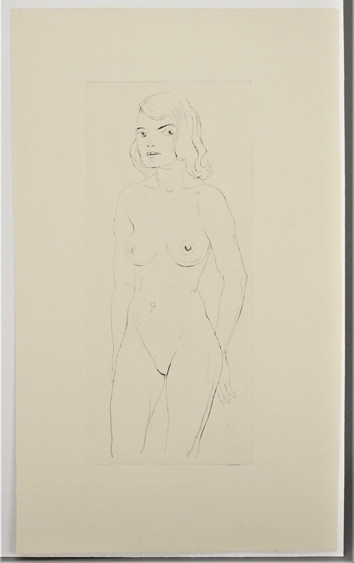 Walter Hempel, Stehender weiblicher Akt - Bild 3 aus 3
