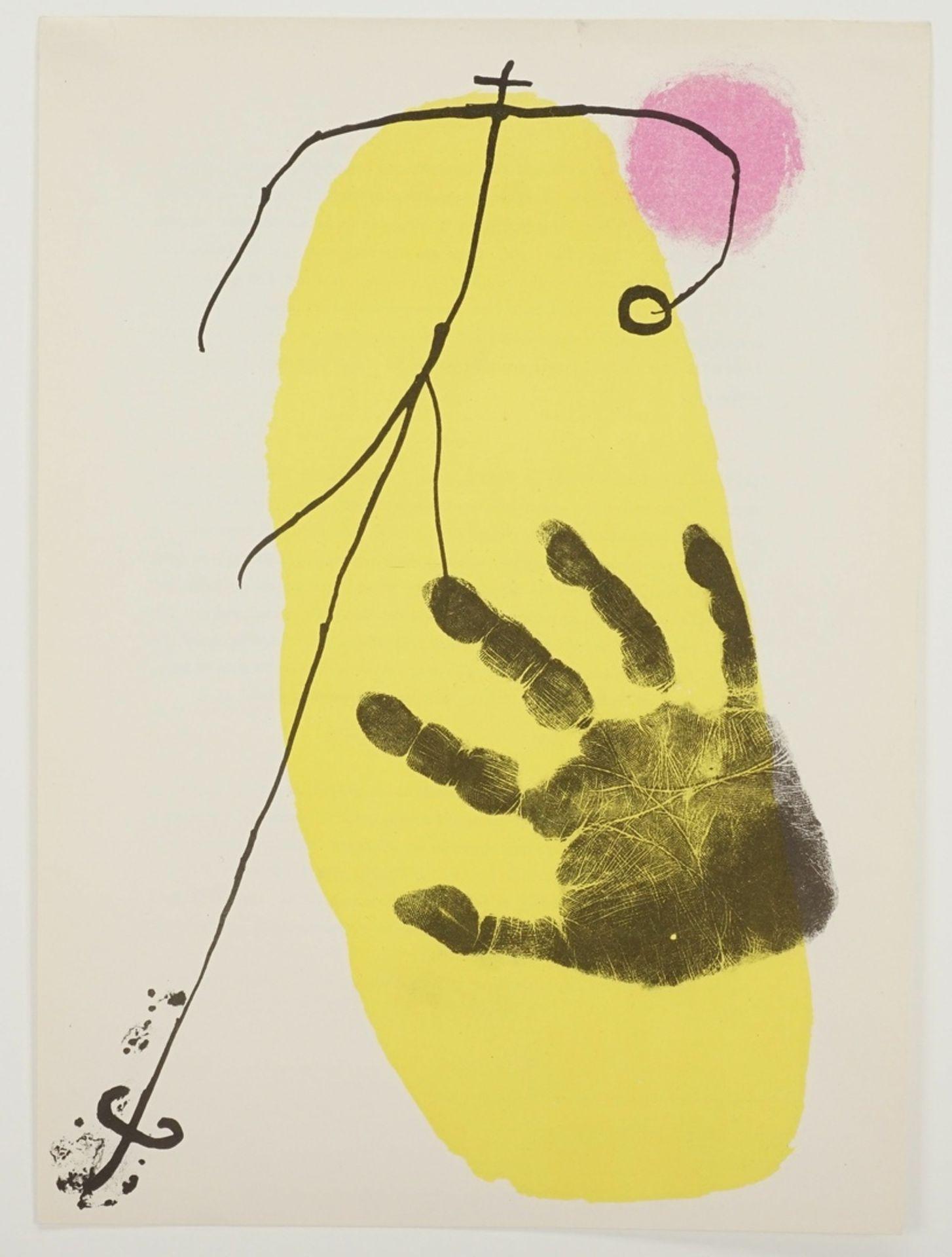 Joan Miró, Hand vor Gelb (aus: Derrière le Miroir) - Bild 3 aus 4