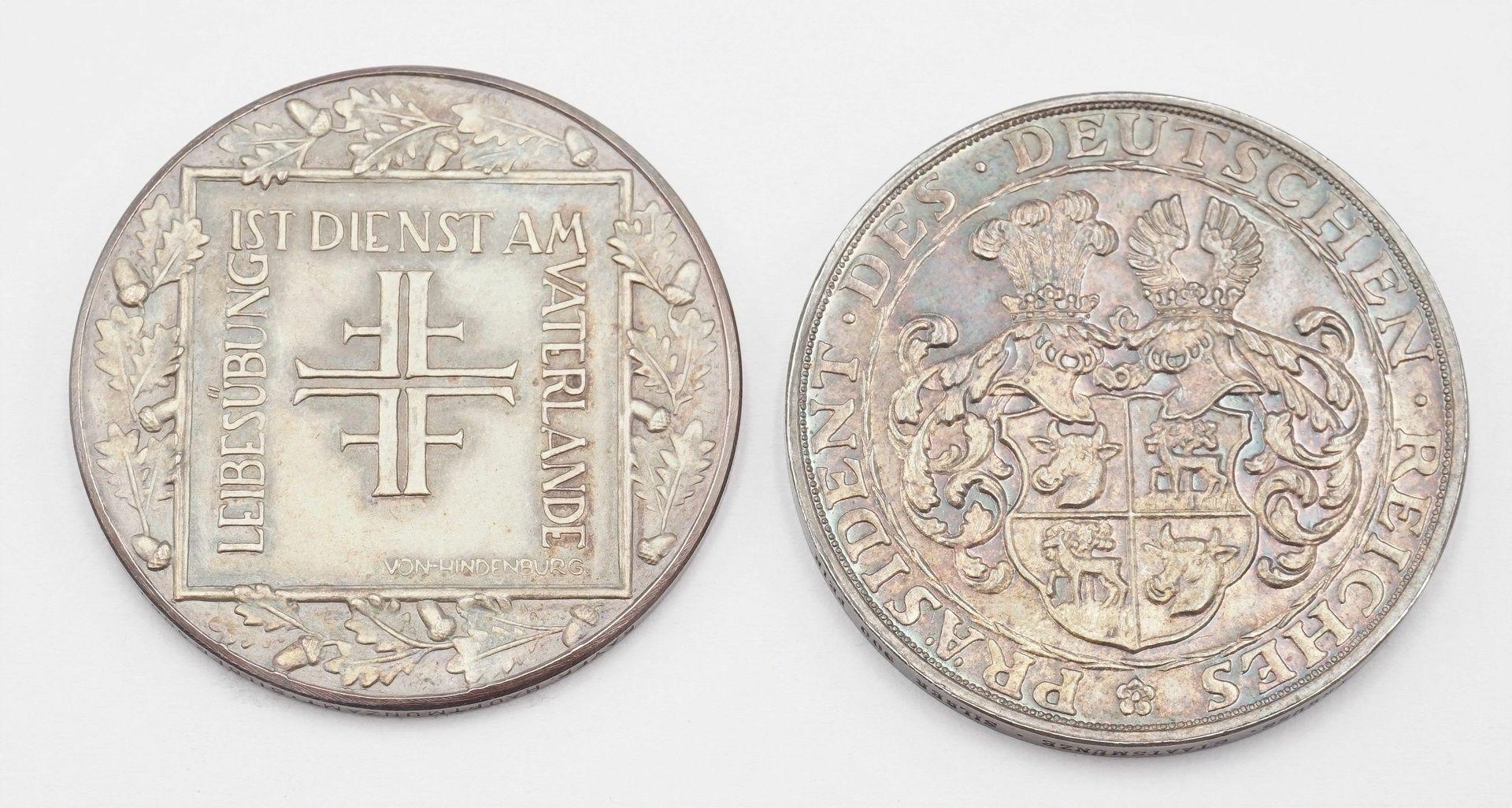 Zwei Gedenkmedaillen von 1928, Silber - Bild 3 aus 3