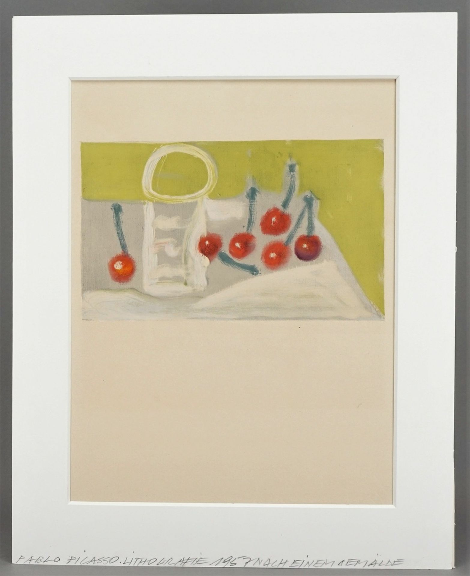 "Pablo Picasso, ""Les Cérises"" (Die Kirschen) - Bild 2 aus 3"