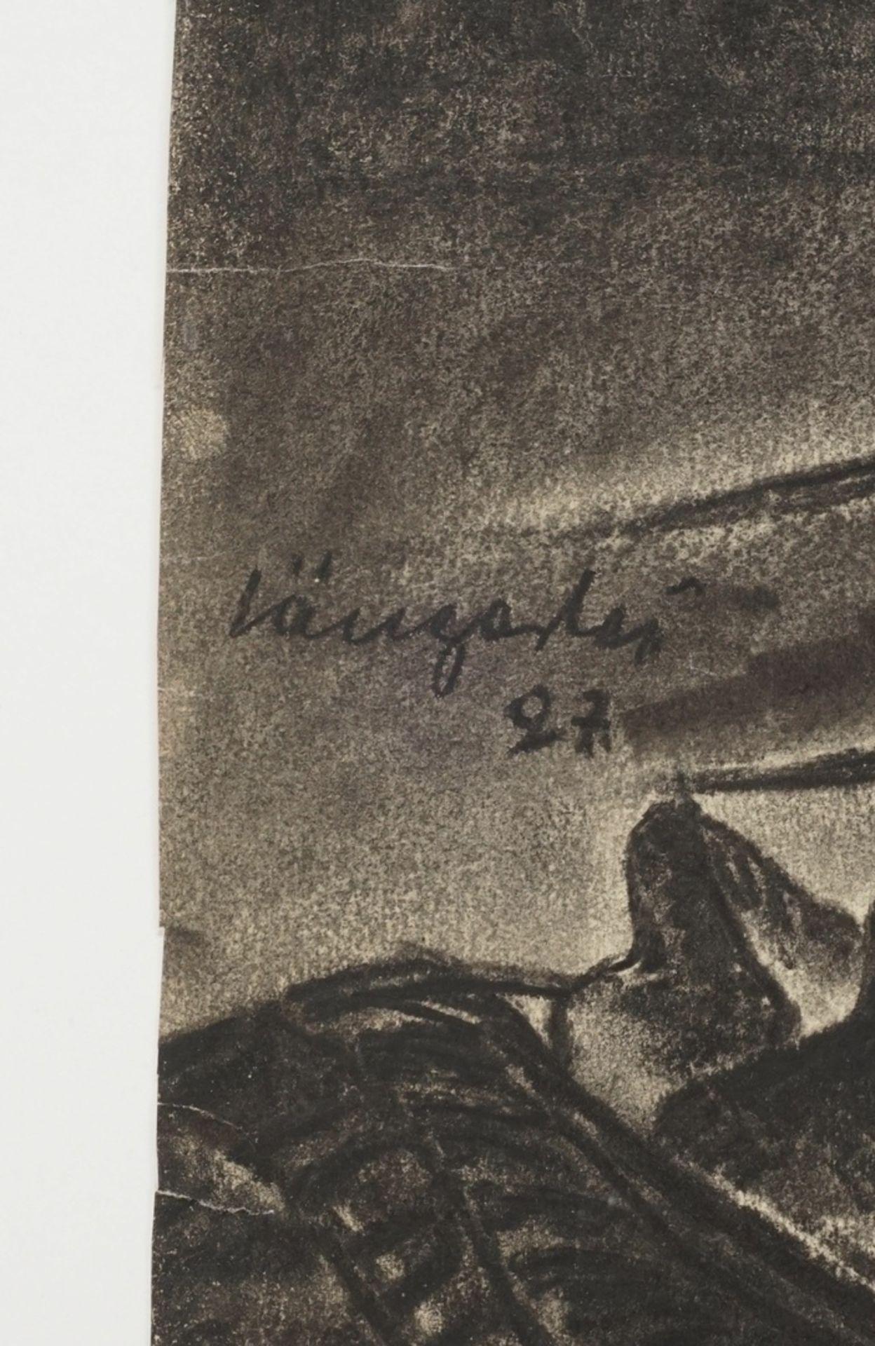 Unbekannter Zeichner, Strickendes Mädchen - Bild 4 aus 4