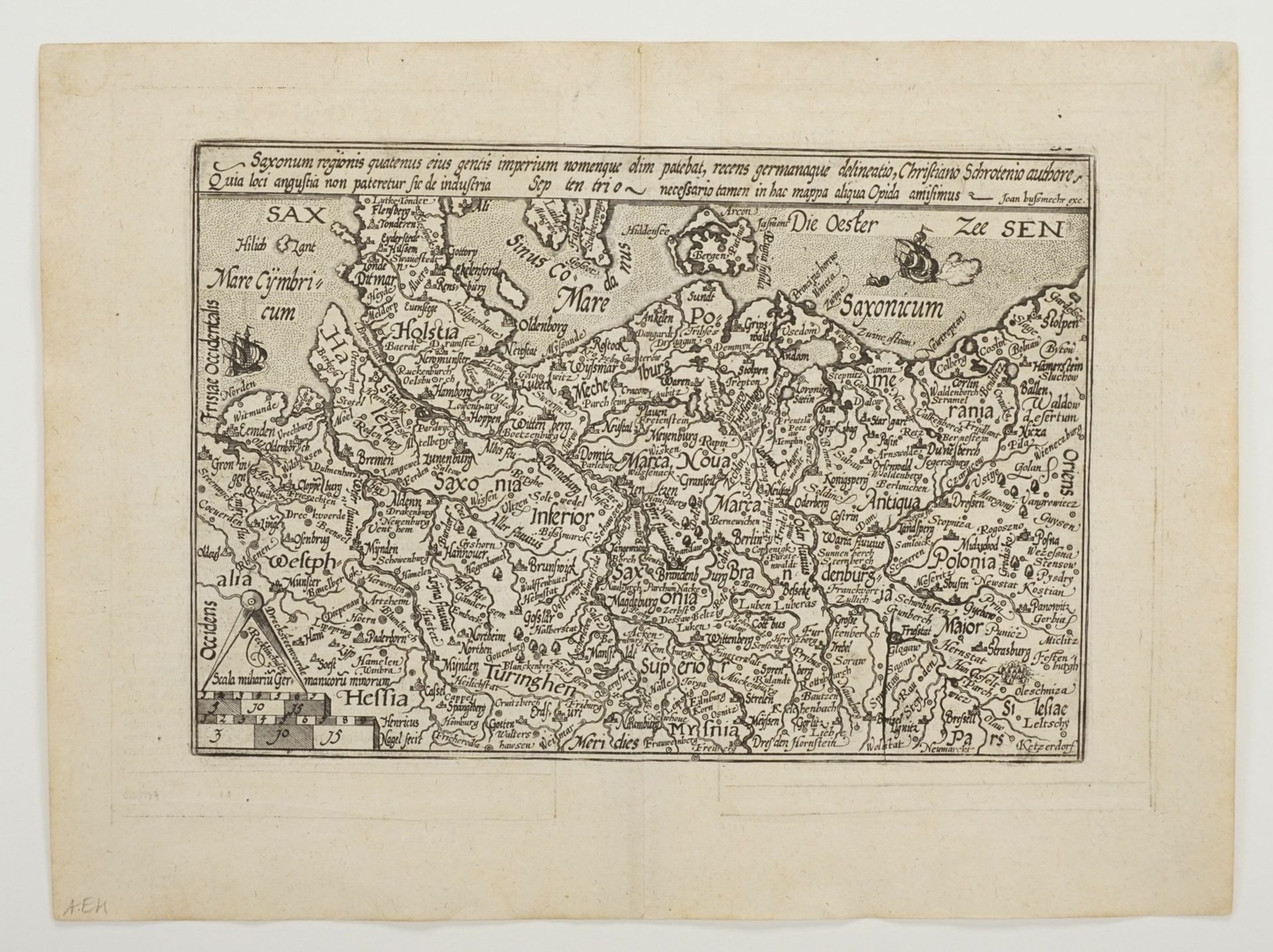 """Mat(t)hias Quad, """"Saxonum regionis quatenus eius gentis imperium nomenque olim patebat, recens ... - Bild 3 aus 4"""