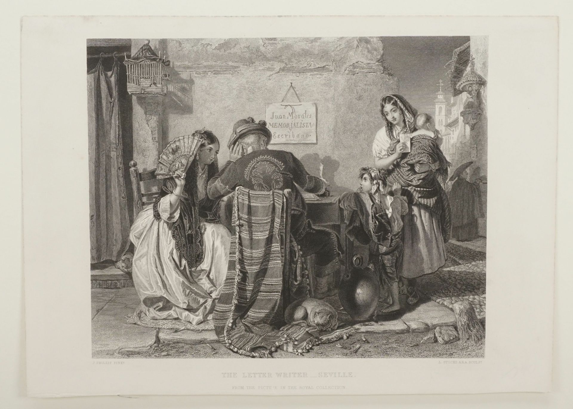 """John Philip, """"The letter writer - Seville"""" (Der Briefeschreiber - Sevilla) - Bild 3 aus 3"""