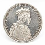 Silbermedaille zur Krönung Ludwigs XVI.