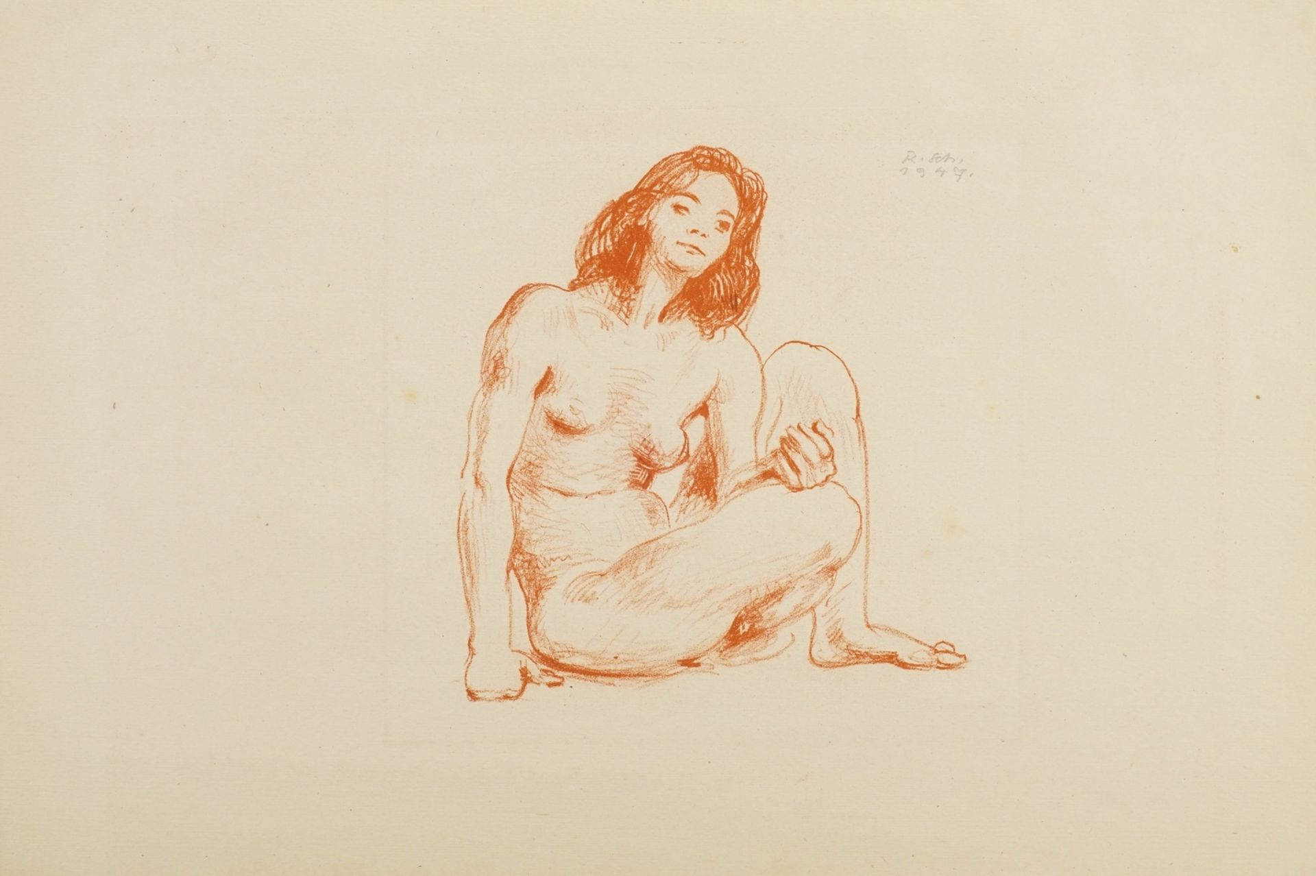 """Richard Scheibe, """"Sitzender weiblicher Akt"""""""