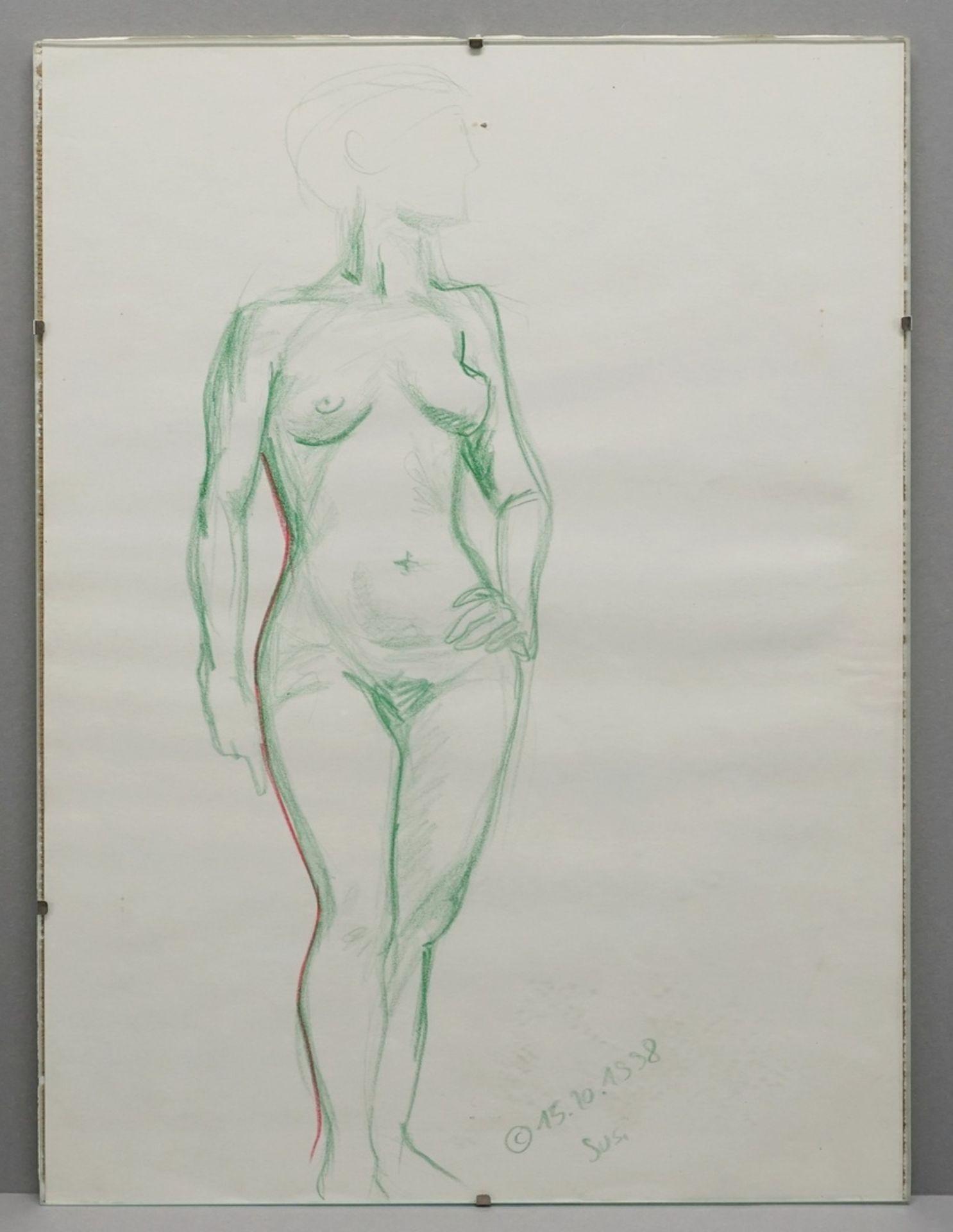 Unbekannter Künstler, Aktstudie - Bild 2 aus 3