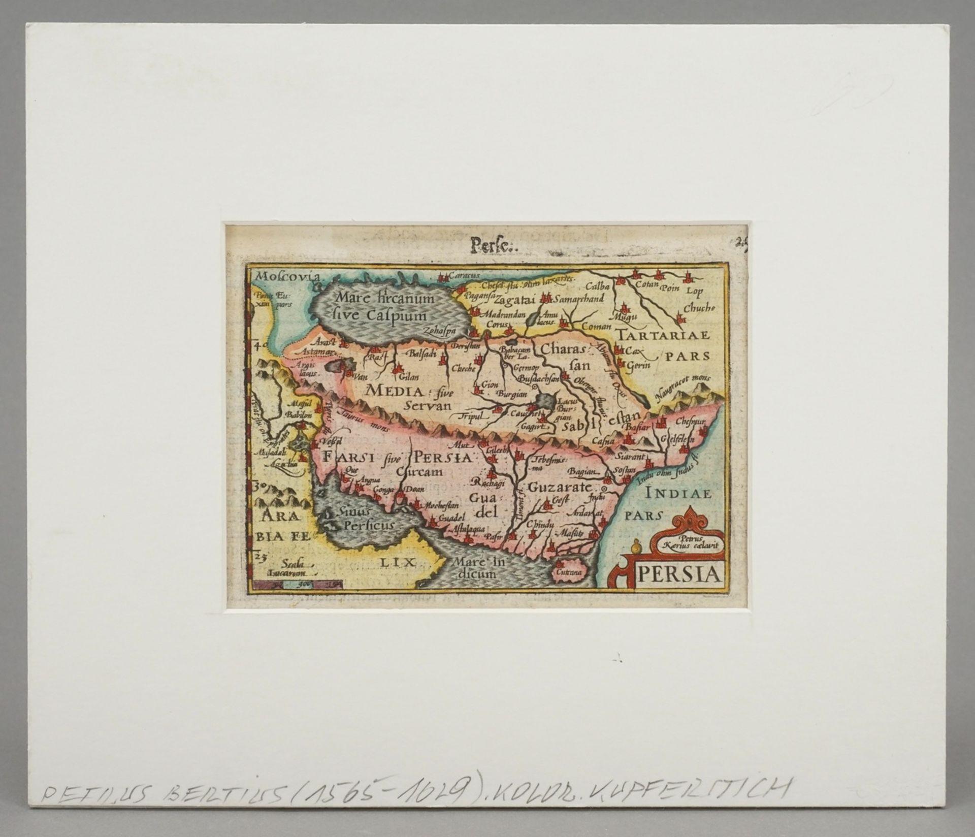 """Petrus Bertius, """"Persia"""" (Landkarte von Persien) - Bild 2 aus 4"""