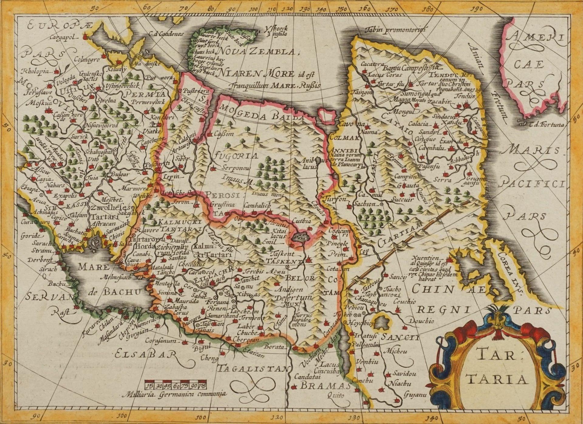 "Gerhard Mercator, ""Tartaria"" (Landkarte Nordost-Asien)"