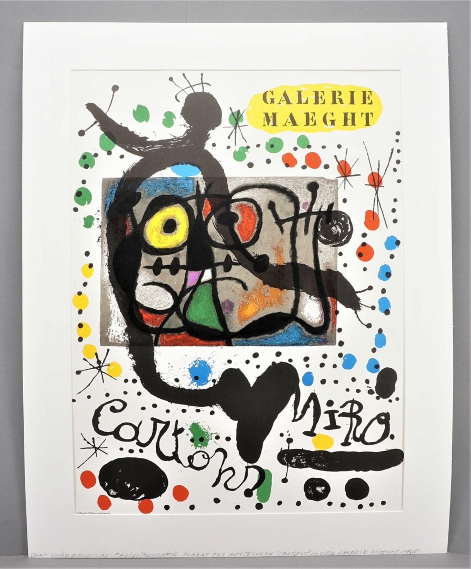 "Joan Miró, ""Cartons. Galerie Maeght"" (Plakat) - Bild 2 aus 3"